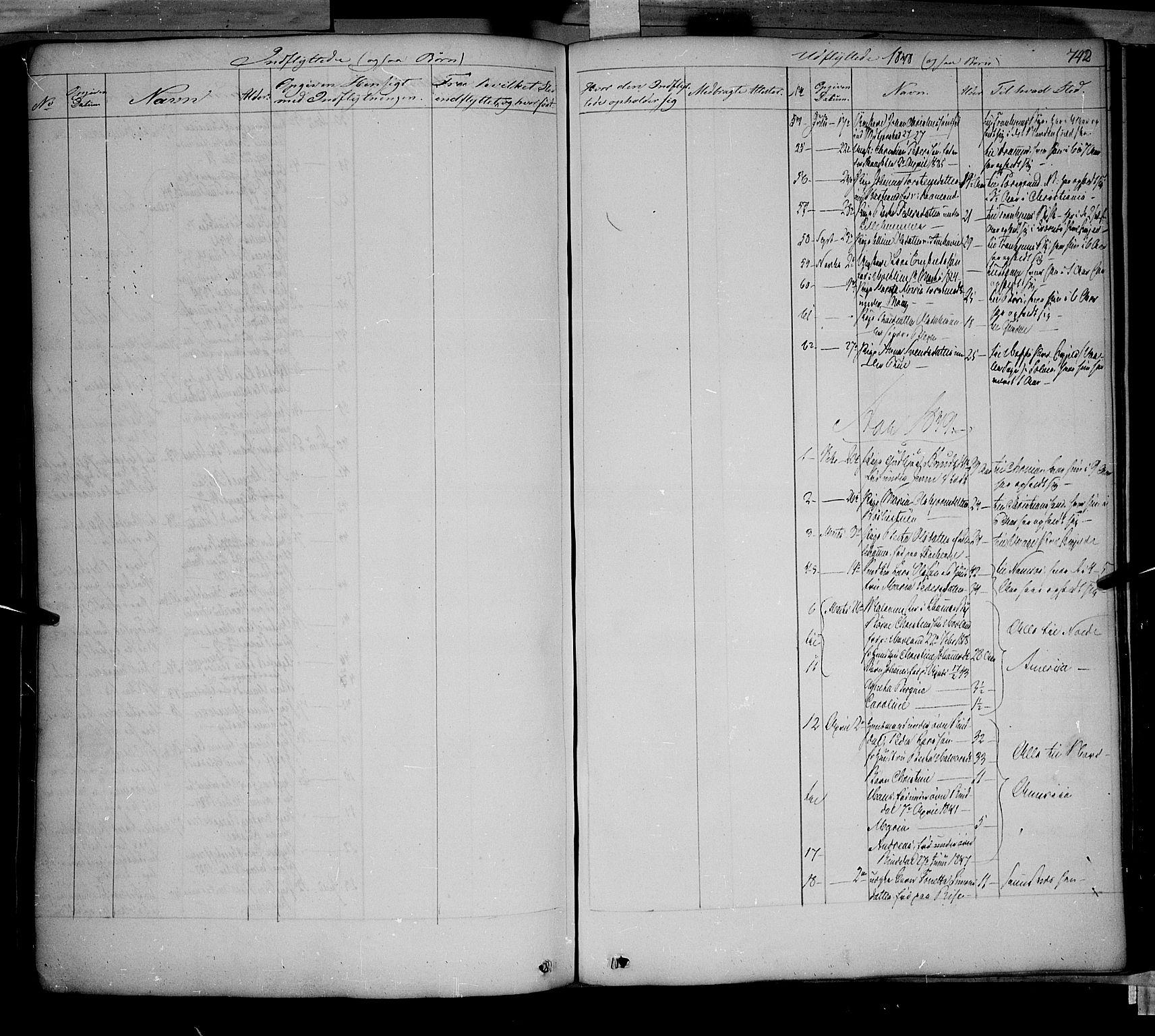 SAH, Fåberg prestekontor, Ministerialbok nr. 5, 1836-1854, s. 741-742