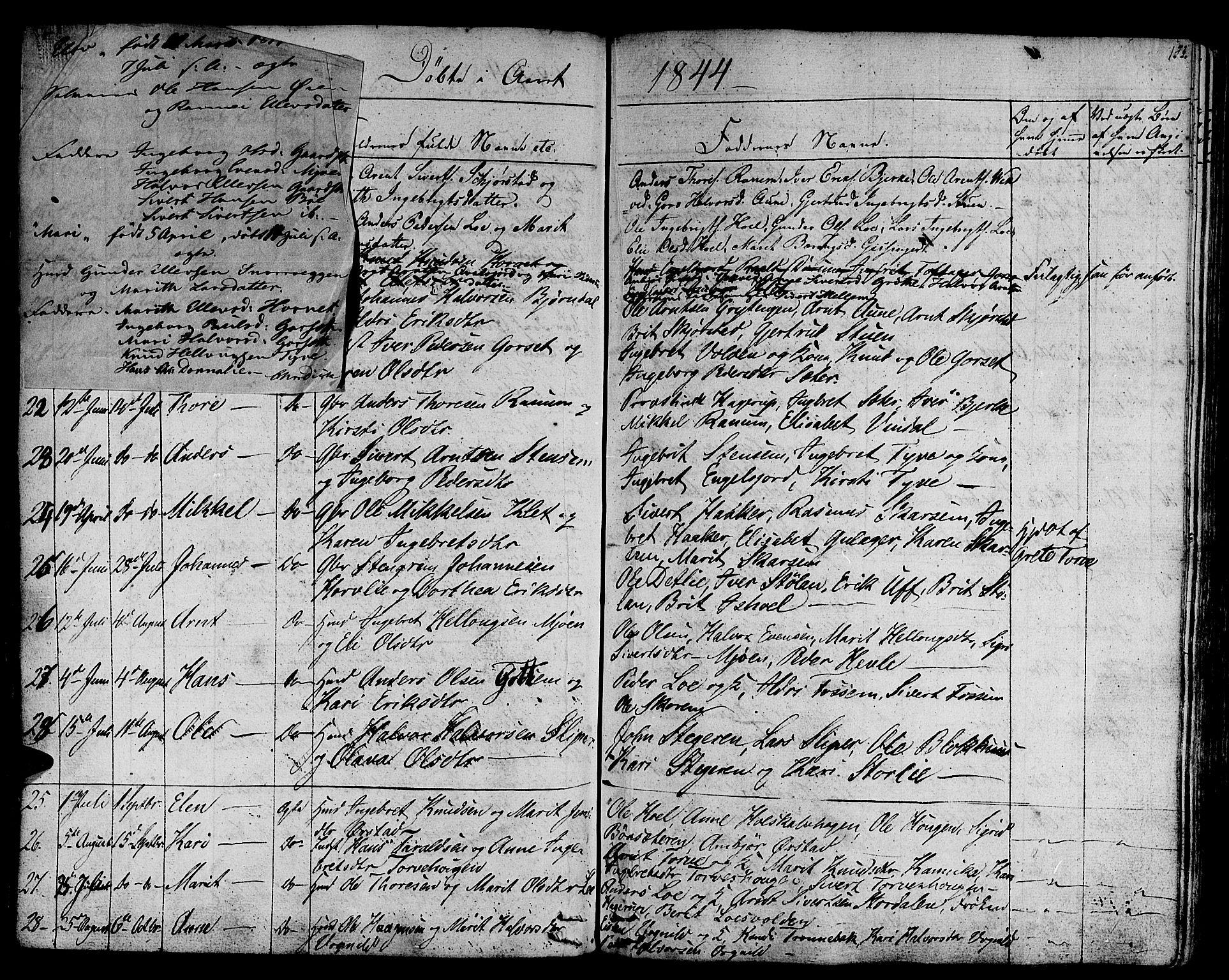 SAT, Ministerialprotokoller, klokkerbøker og fødselsregistre - Sør-Trøndelag, 678/L0897: Ministerialbok nr. 678A06-07, 1821-1847, s. 153