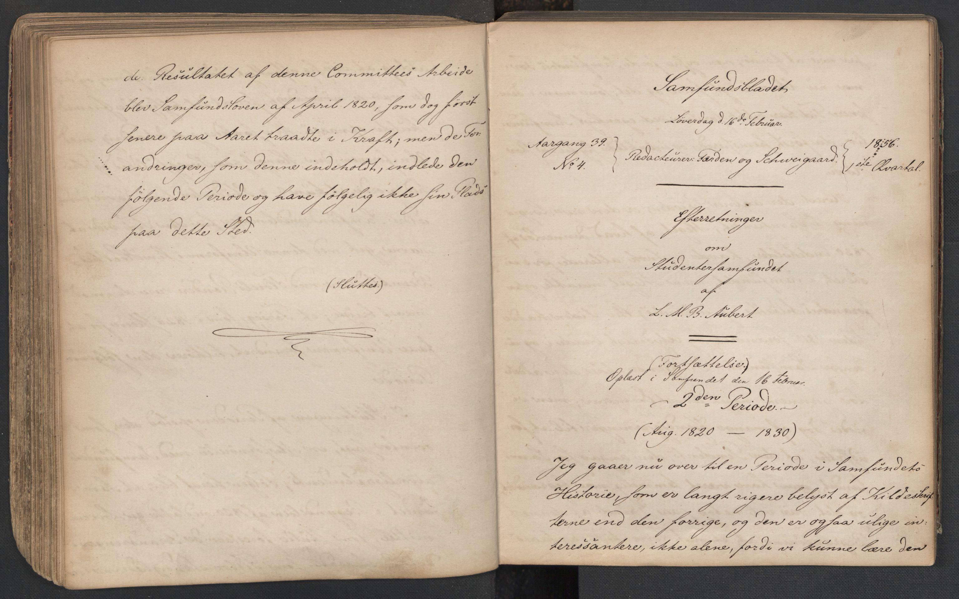 RA, Det Norske Studentersamfund, X/Xa/L0005, 1855-1856, s. 119