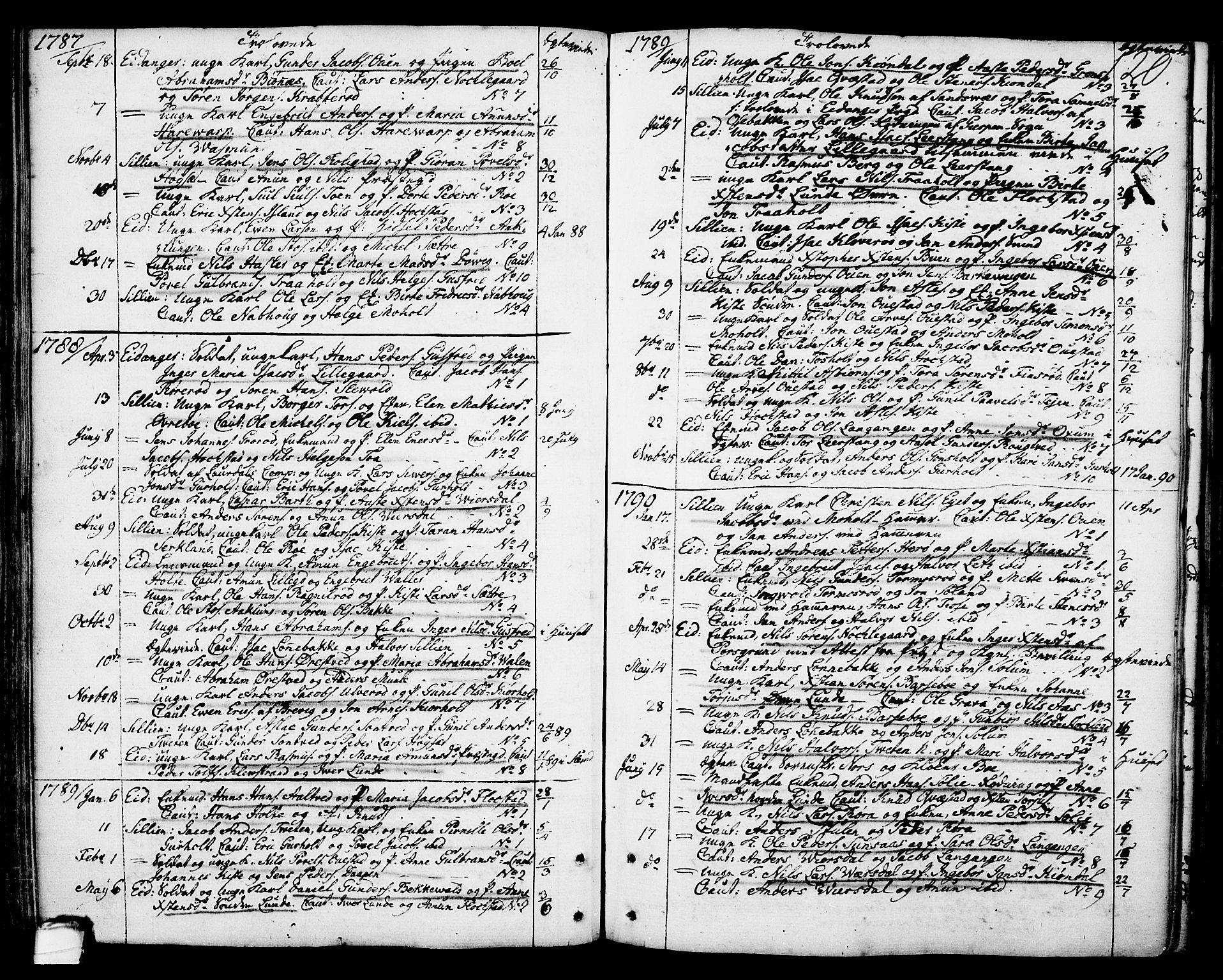 SAKO, Eidanger kirkebøker, F/Fa/L0006: Ministerialbok nr. 6, 1764-1814, s. 120