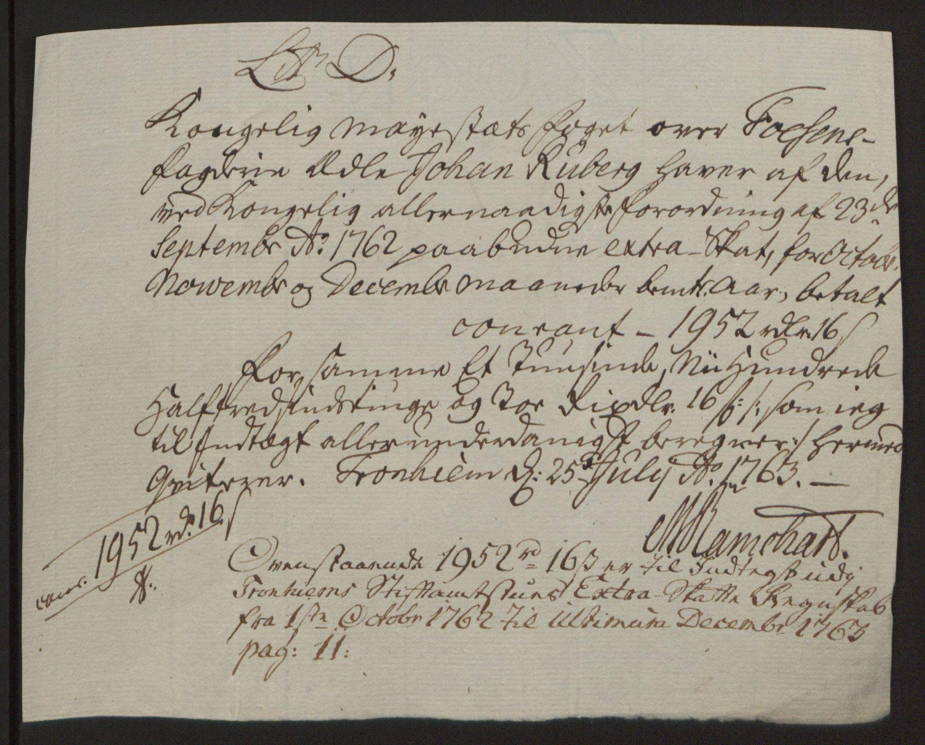 RA, Rentekammeret inntil 1814, Reviderte regnskaper, Fogderegnskap, R57/L3930: Ekstraskatten Fosen, 1762-1763, s. 181