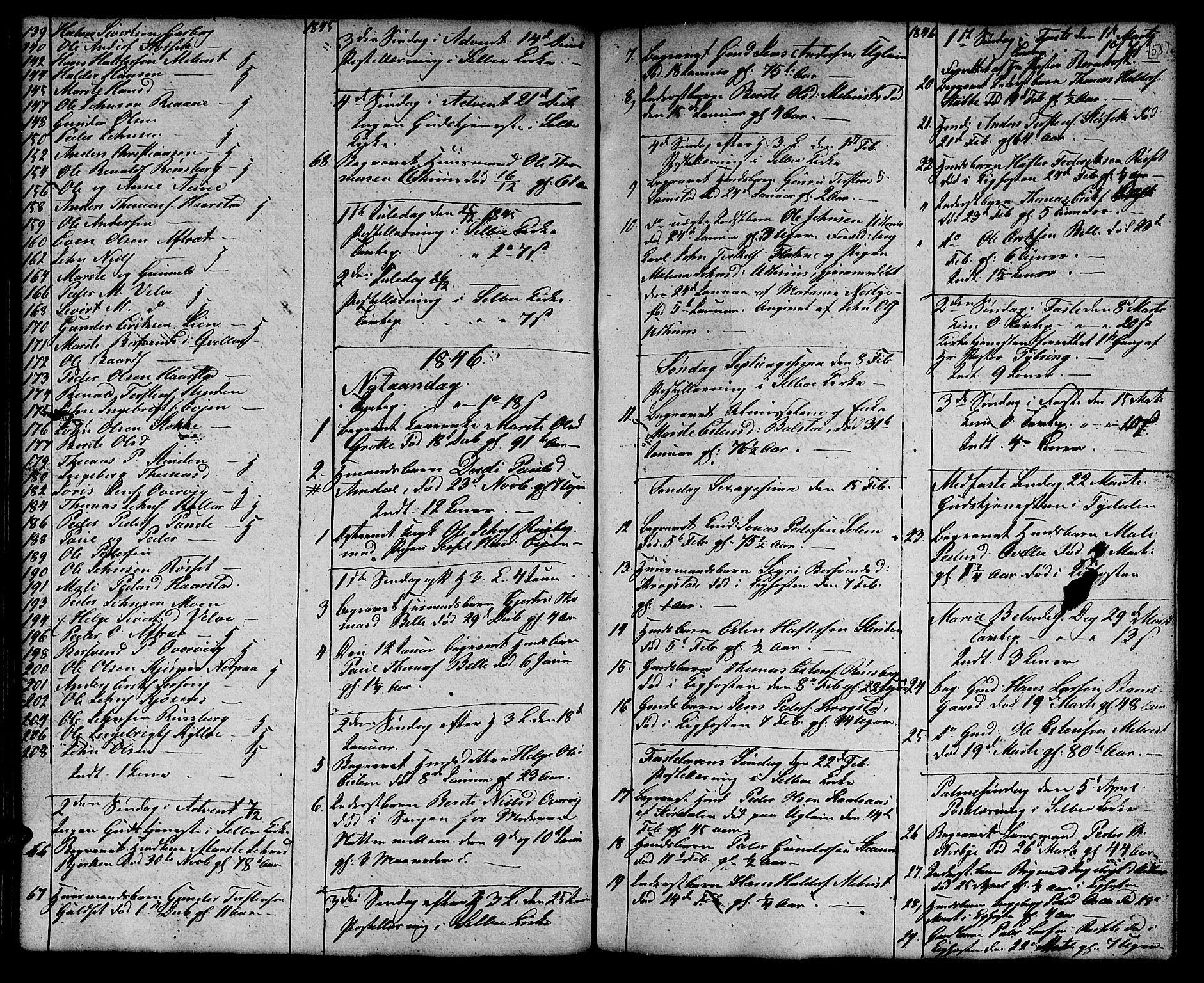 SAT, Ministerialprotokoller, klokkerbøker og fødselsregistre - Sør-Trøndelag, 695/L1154: Klokkerbok nr. 695C05, 1842-1858, s. 58