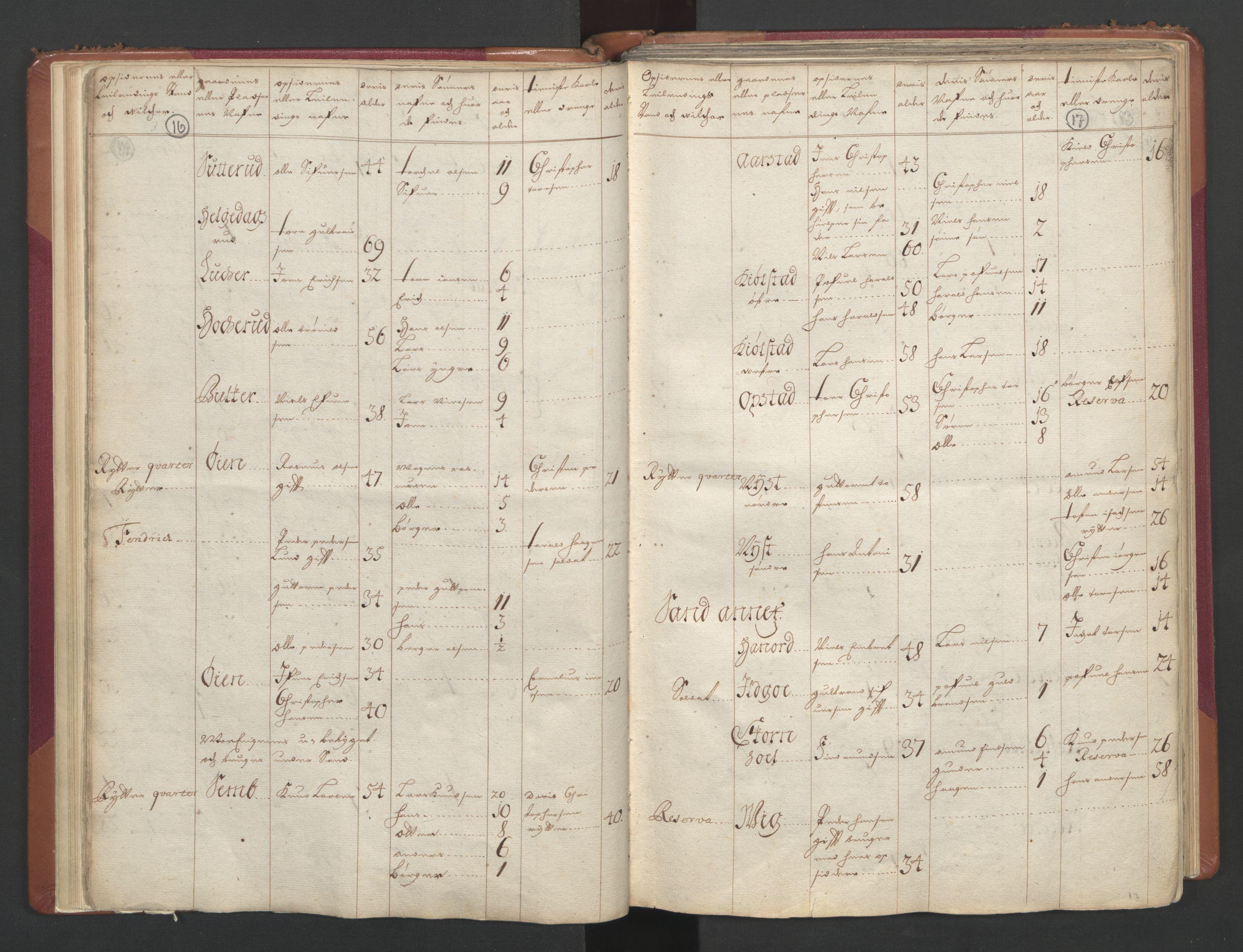RA, Manntallet 1701, nr. 2: Solør, Odal og Østerdal fogderi og Larvik grevskap, 1701, s. 16-17