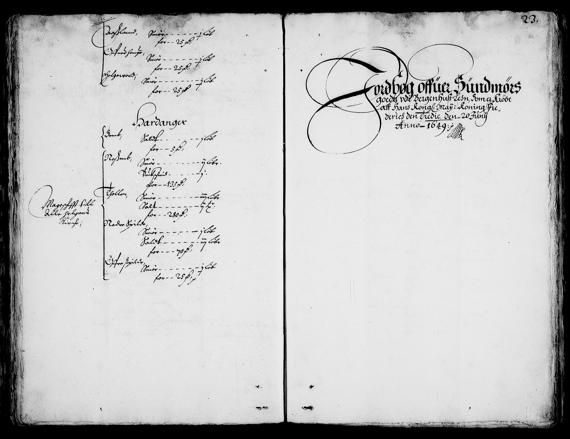 RA, Rentekammeret inntil 1814, Realistisk ordnet avdeling, On/L0001: Statens gods, 1651, s. 1022b-1023a