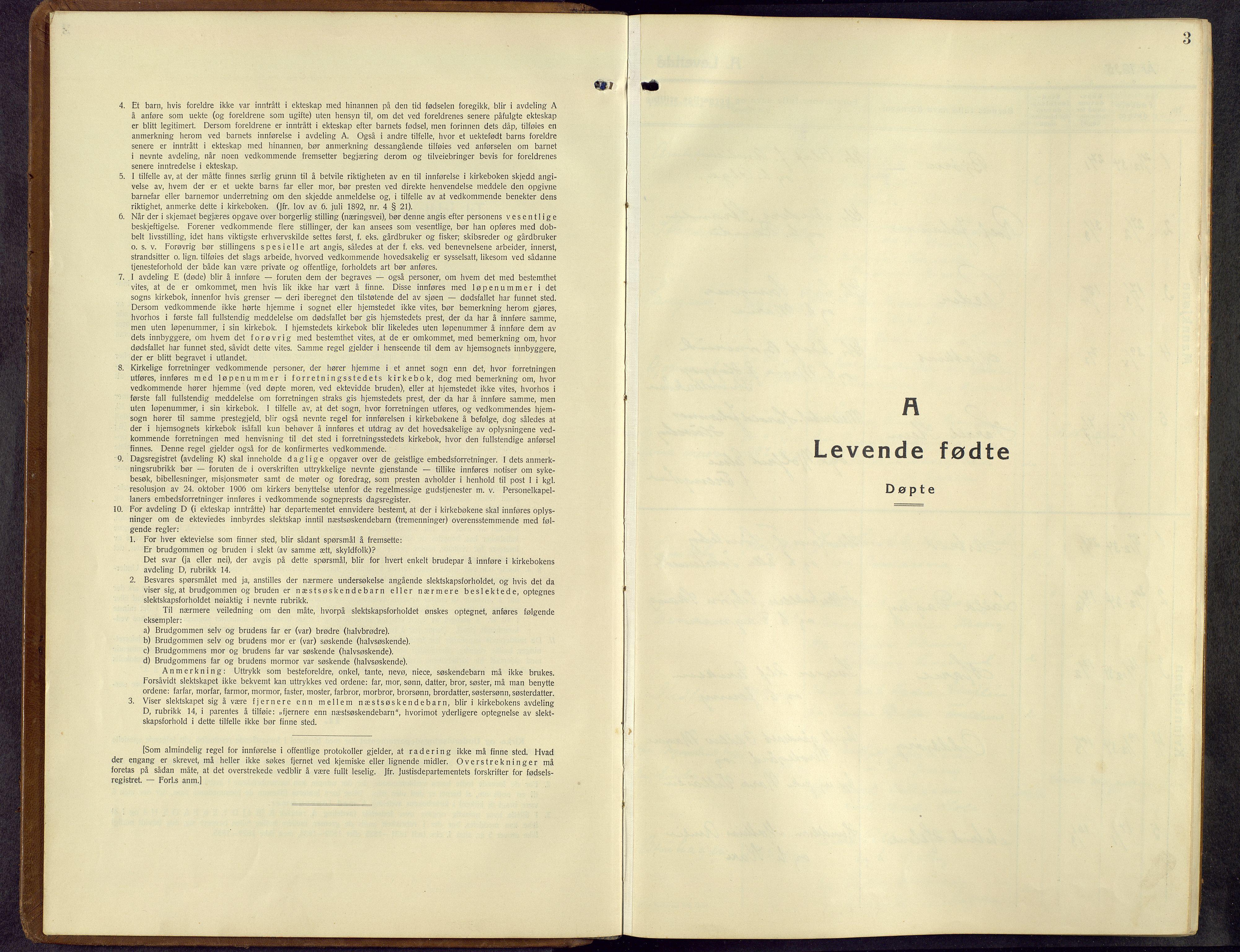 SAH, Kolbu prestekontor, Klokkerbok nr. 3, 1935-1966, s. 3