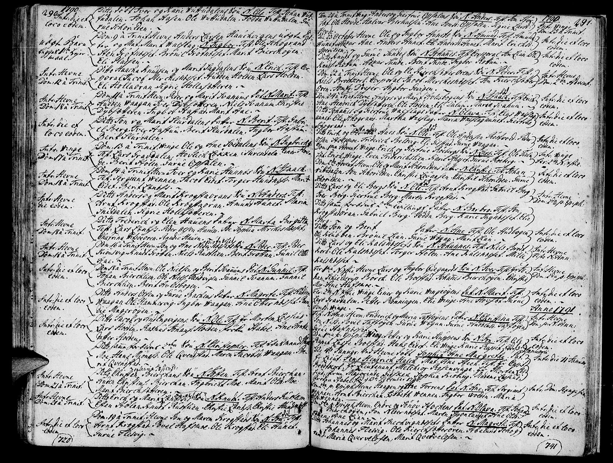 SAT, Ministerialprotokoller, klokkerbøker og fødselsregistre - Sør-Trøndelag, 630/L0489: Ministerialbok nr. 630A02, 1757-1794, s. 290-291