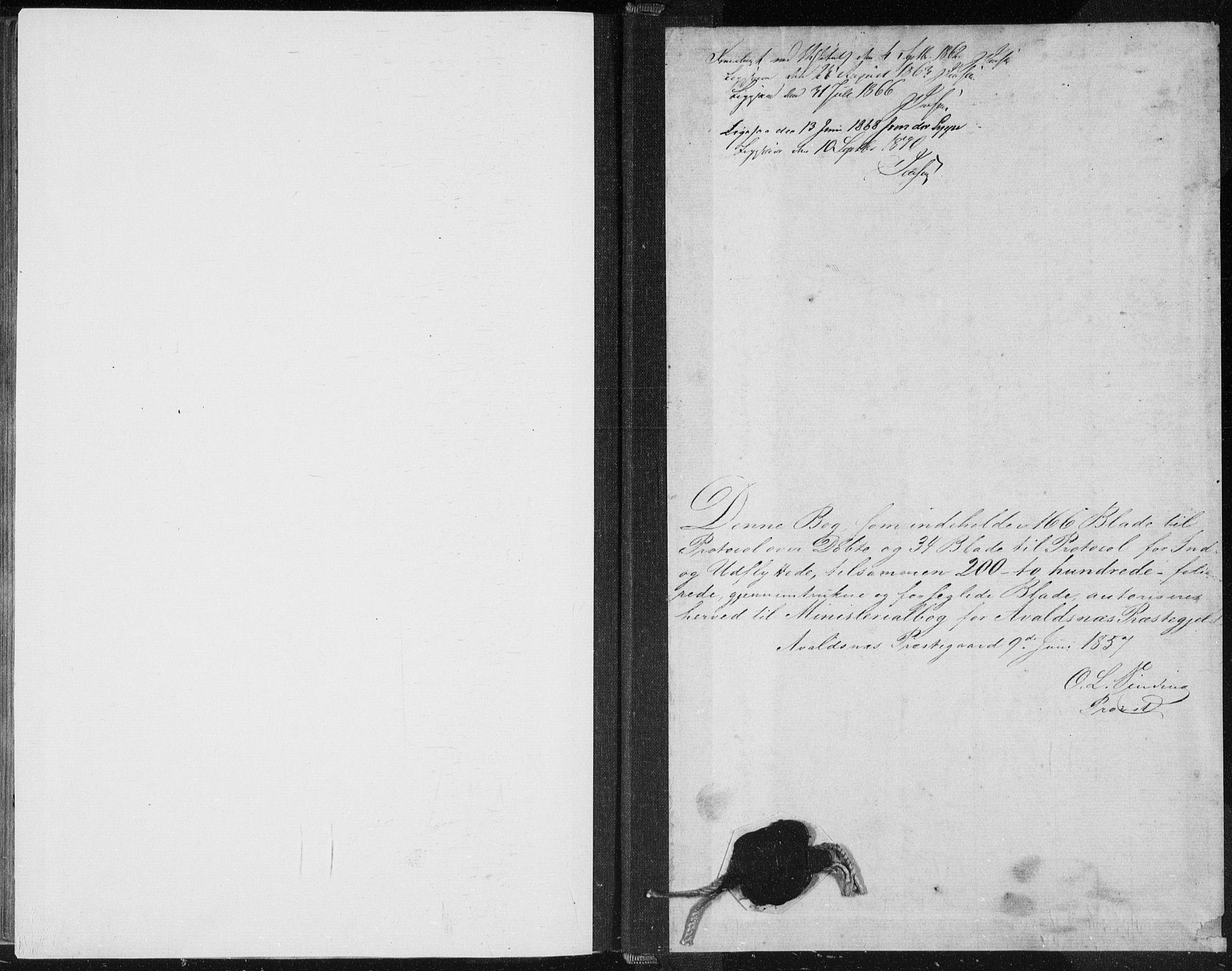 SAST, Avaldsnes sokneprestkontor, H/Ha/Haa/L0010: Ministerialbok nr. A 10, 1857-1876
