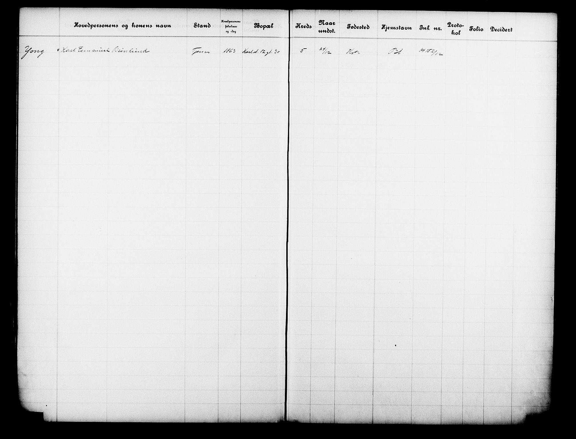 OBA, Fattigvesenet, Fb/L0031: Hjemstavnsregister, 1912, s. 200