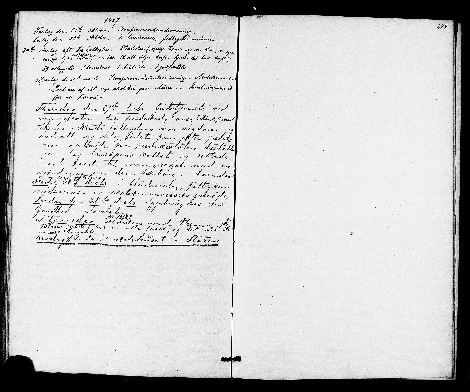 SAT, Ministerialprotokoller, klokkerbøker og fødselsregistre - Sør-Trøndelag, 698/L1163: Ministerialbok nr. 698A01, 1862-1887, s. 244