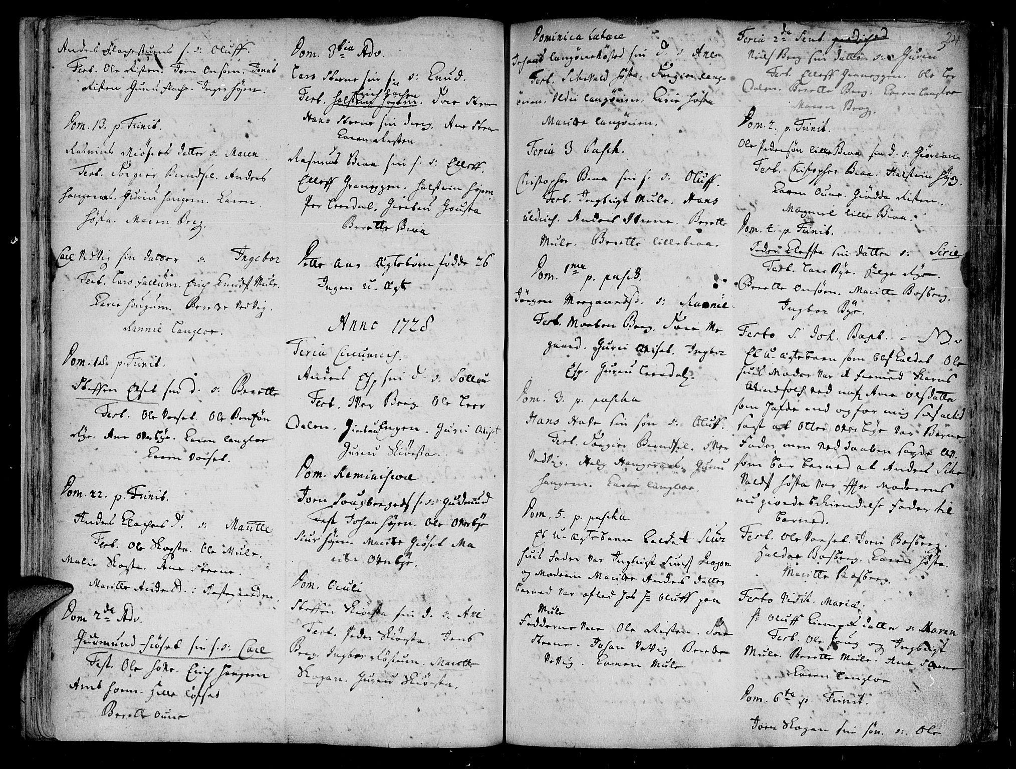 SAT, Ministerialprotokoller, klokkerbøker og fødselsregistre - Sør-Trøndelag, 612/L0368: Ministerialbok nr. 612A02, 1702-1753, s. 24