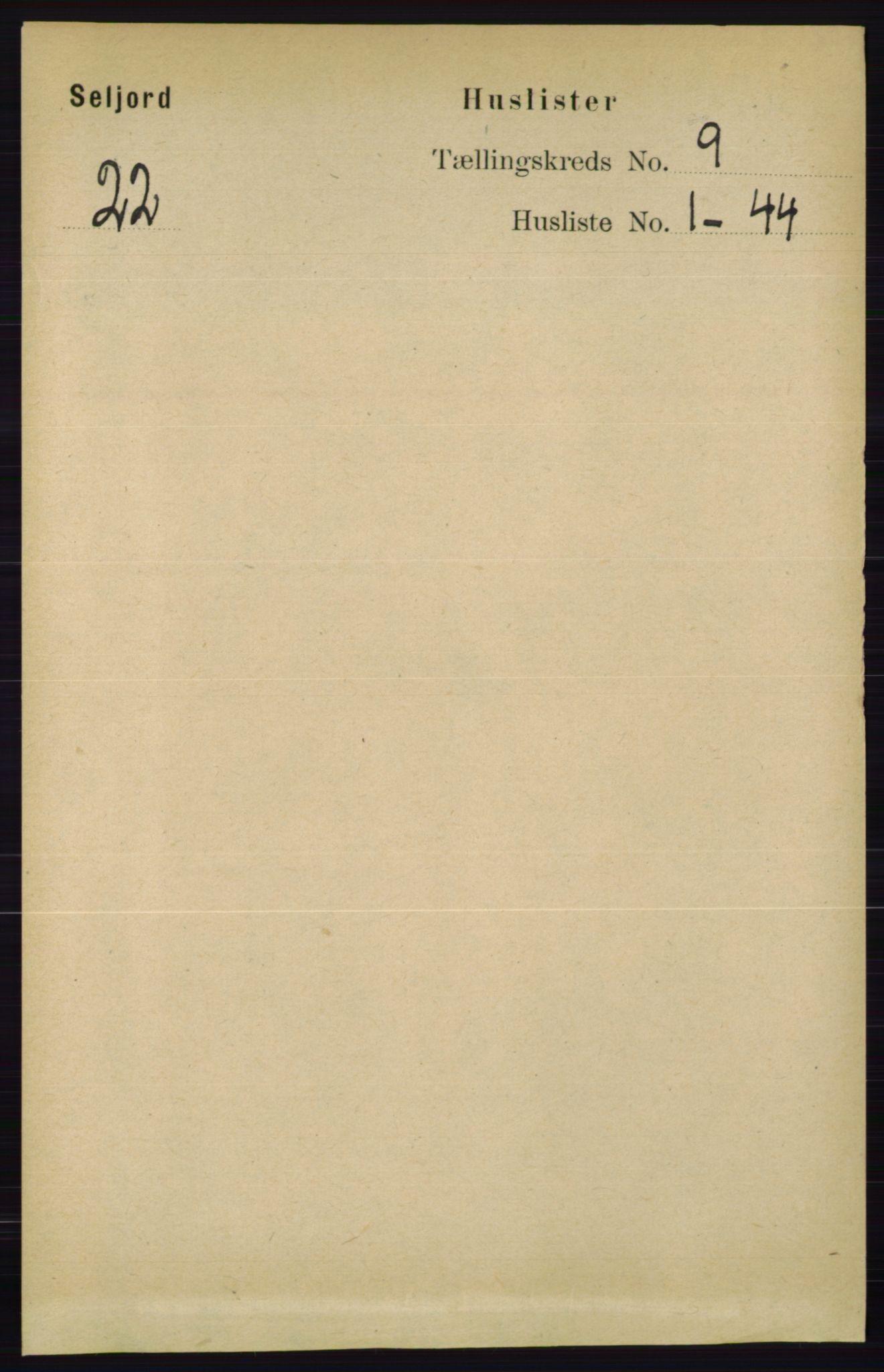 RA, Folketelling 1891 for 0828 Seljord herred, 1891, s. 3124