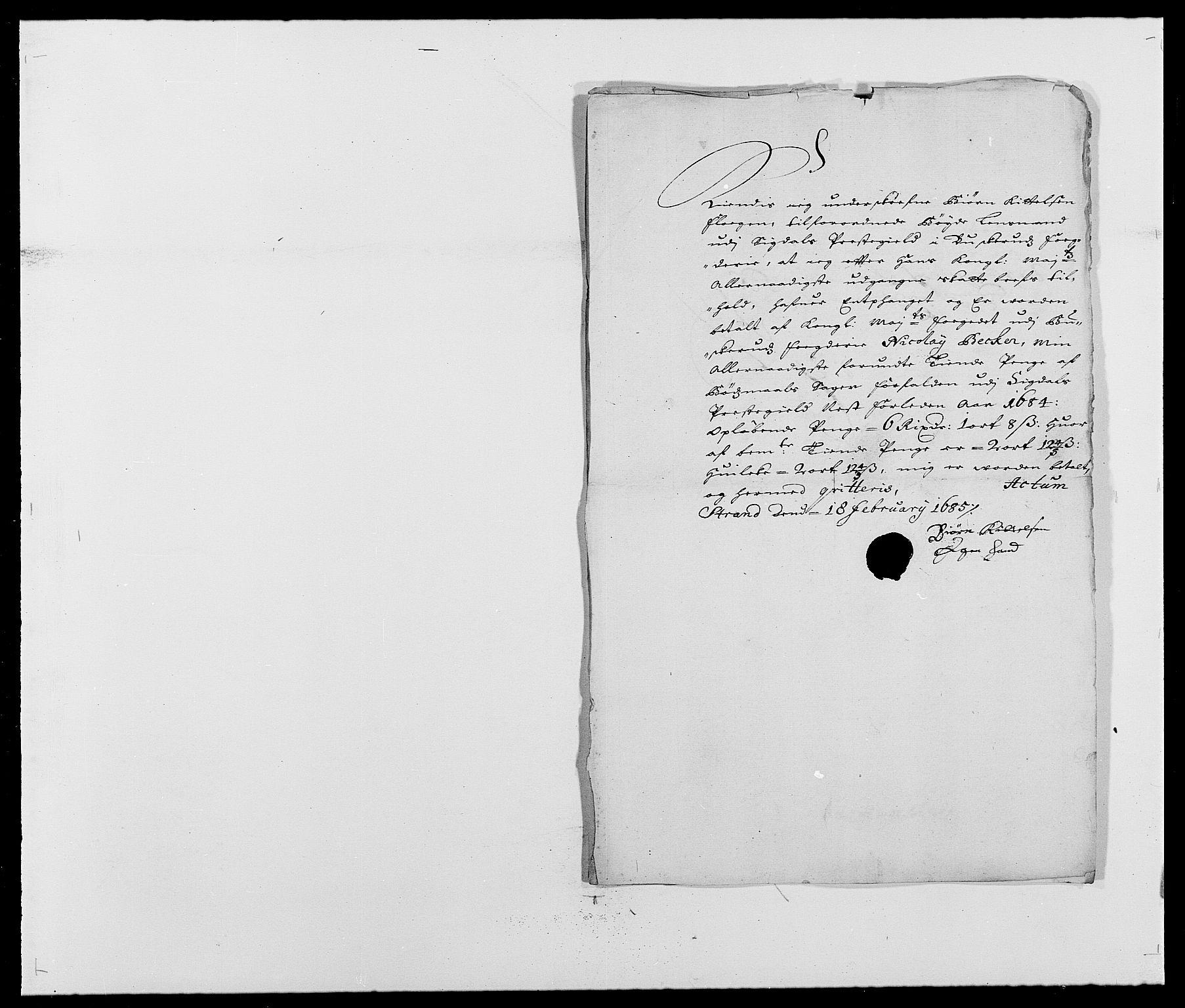 RA, Rentekammeret inntil 1814, Reviderte regnskaper, Fogderegnskap, R25/L1677: Fogderegnskap Buskerud, 1683-1684, s. 340
