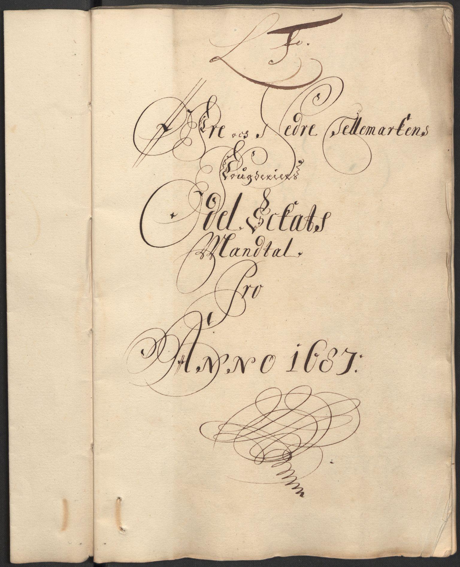 RA, Rentekammeret inntil 1814, Reviderte regnskaper, Fogderegnskap, R35/L2086: Fogderegnskap Øvre og Nedre Telemark, 1687-1689, s. 58