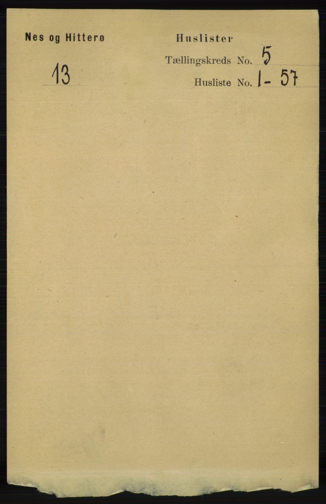 RA, Folketelling 1891 for 1043 Hidra og Nes herred, 1891, s. 1793