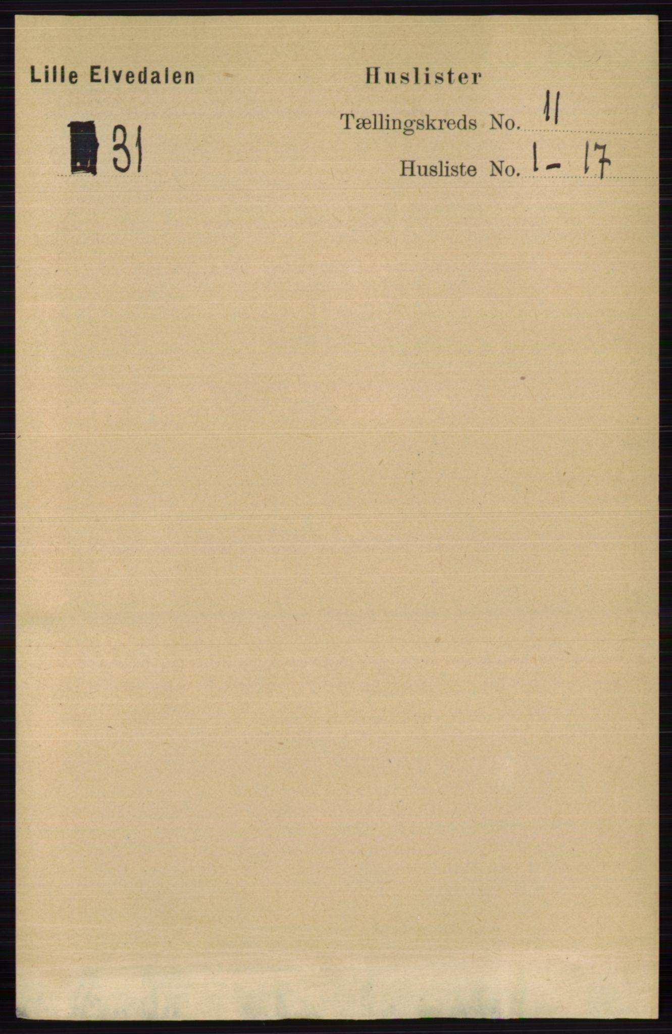 RA, Folketelling 1891 for 0438 Lille Elvedalen herred, 1891, s. 3773