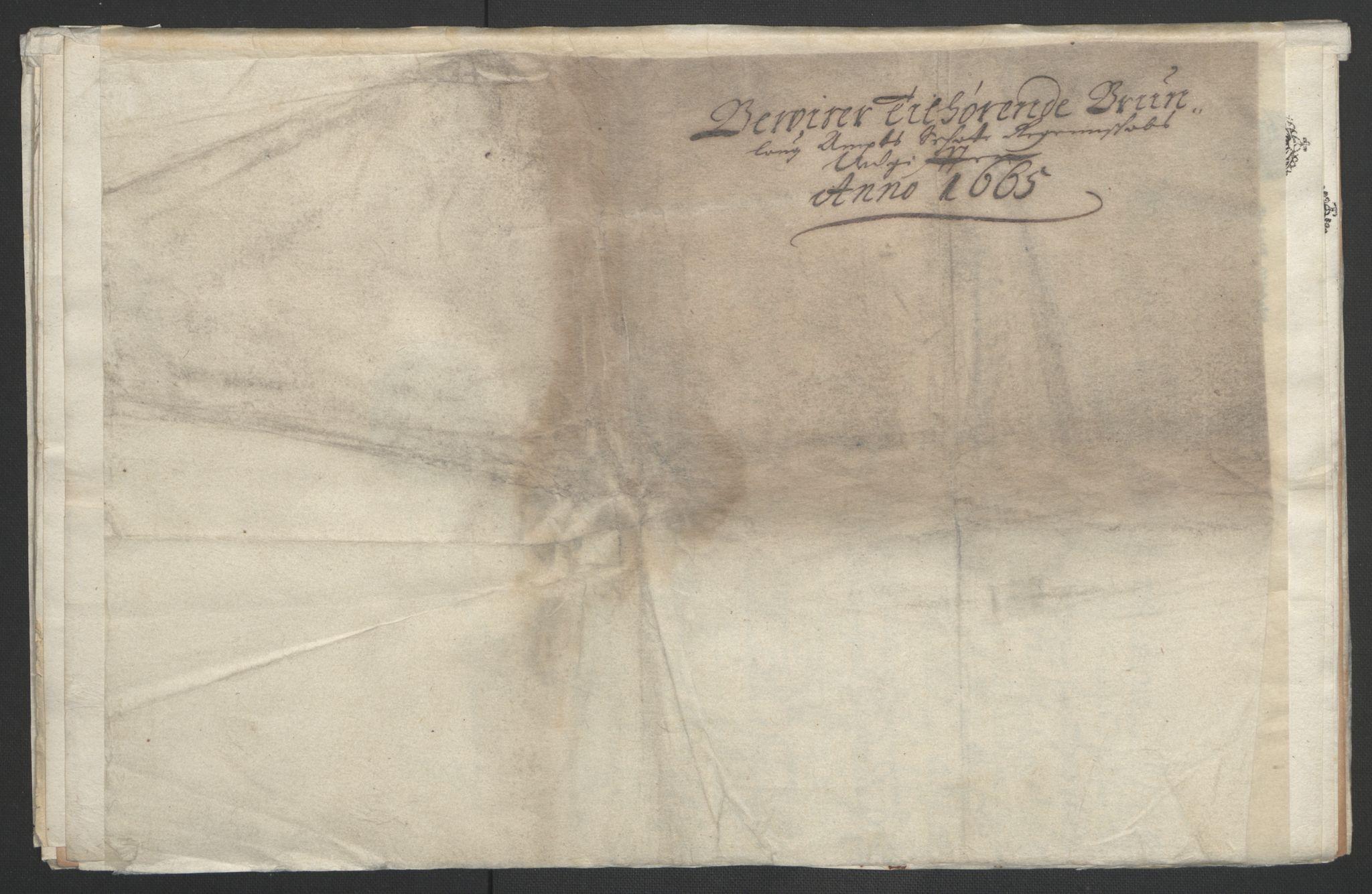 RA, Rentekammeret inntil 1814, Reviderte regnskaper, Fogderegnskap, R33/L1964: Fogderegnskap Larvik grevskap, 1665-1668, s. 3