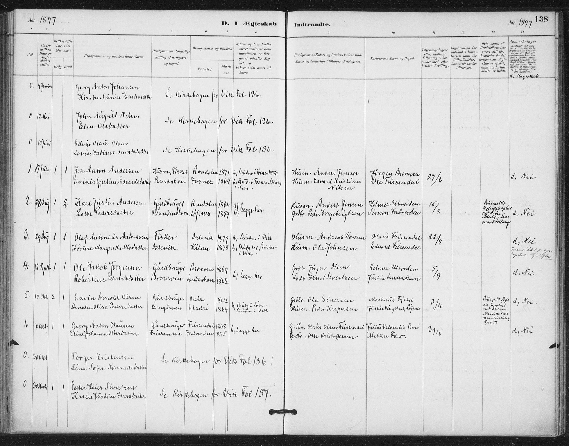 SAT, Ministerialprotokoller, klokkerbøker og fødselsregistre - Nord-Trøndelag, 772/L0603: Ministerialbok nr. 772A01, 1885-1912, s. 138
