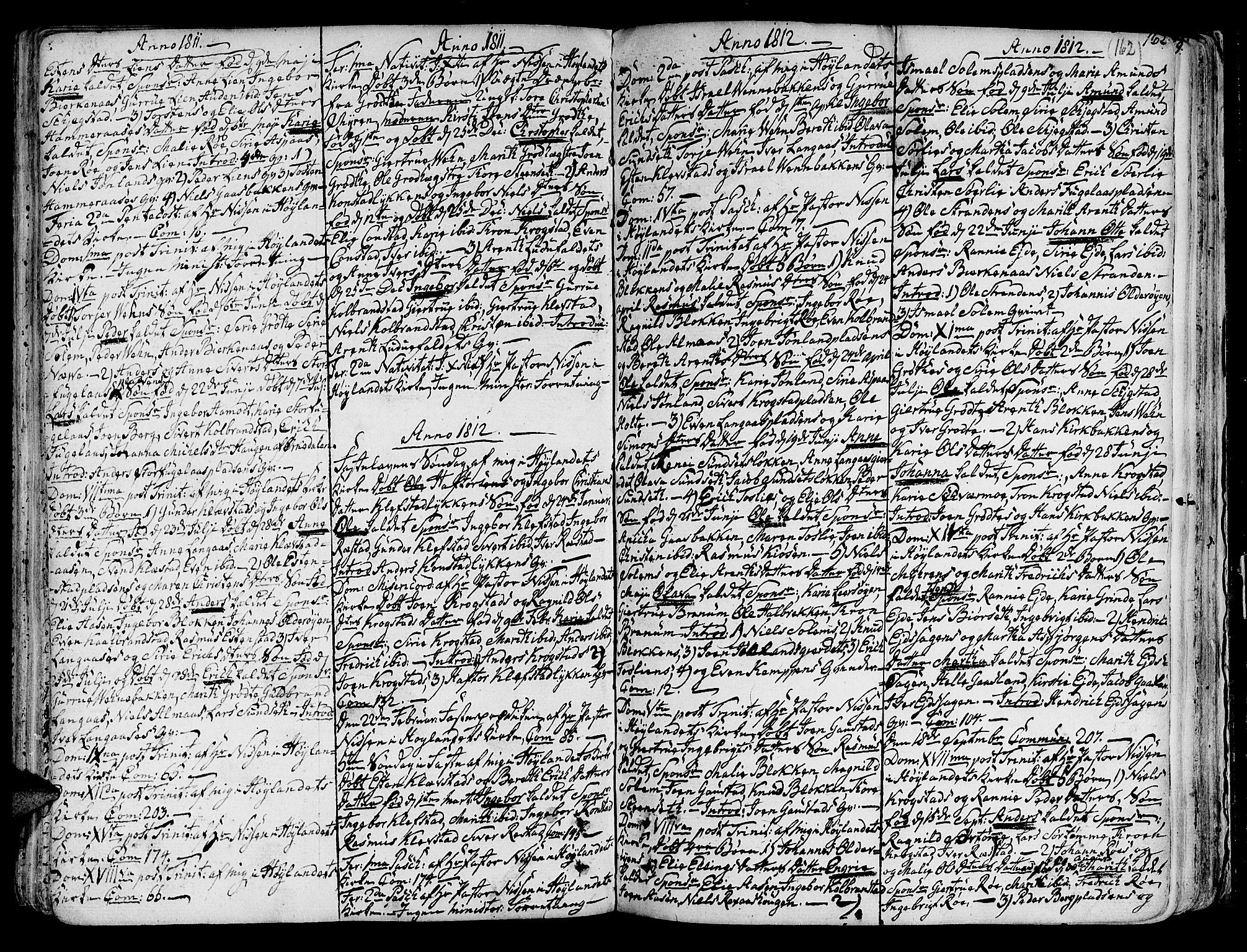 SAT, Ministerialprotokoller, klokkerbøker og fødselsregistre - Sør-Trøndelag, 691/L1064: Ministerialbok nr. 691A02 /4, 1768-1815, s. 162