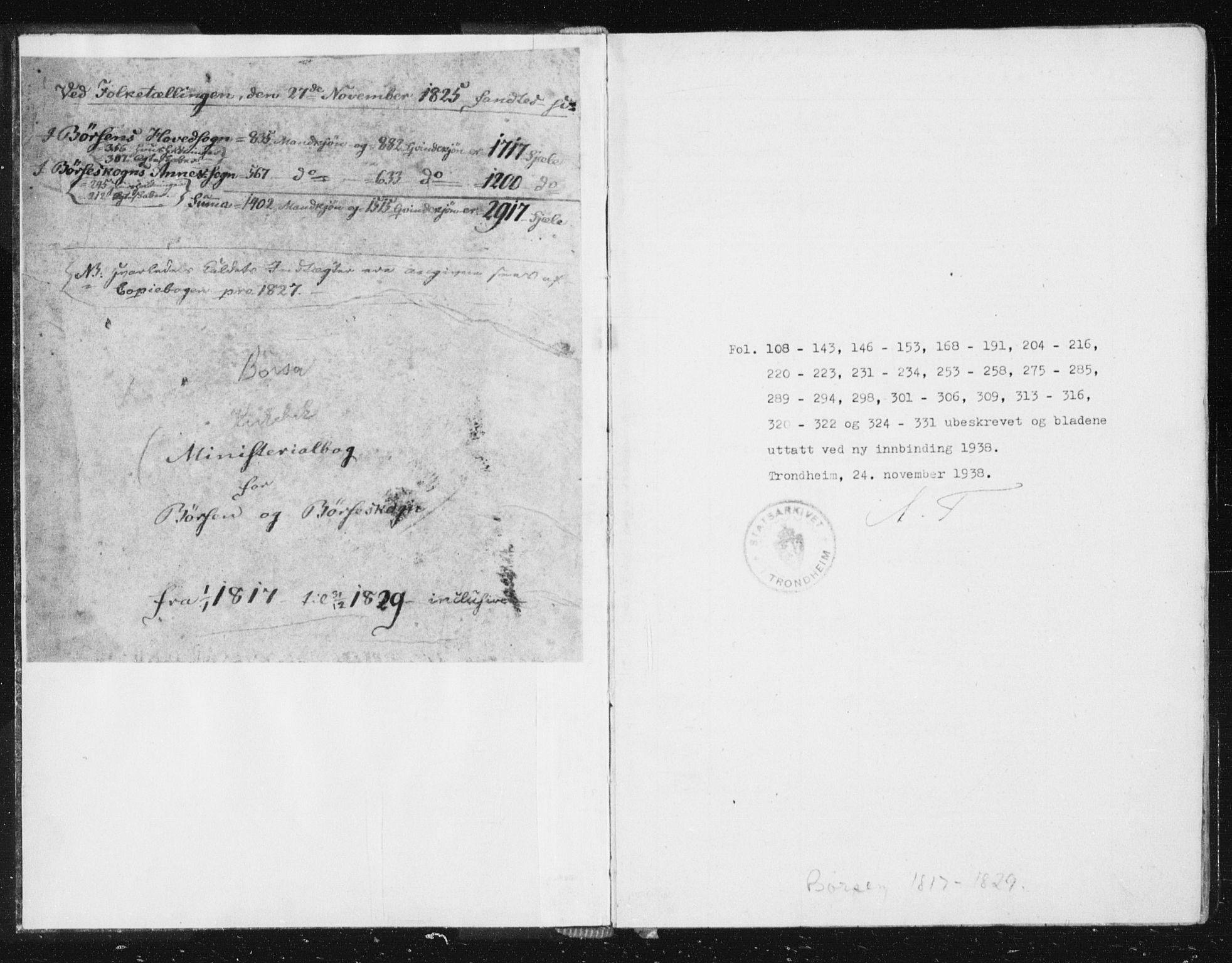 SAT, Ministerialprotokoller, klokkerbøker og fødselsregistre - Sør-Trøndelag, 665/L0770: Ministerialbok nr. 665A05, 1817-1829