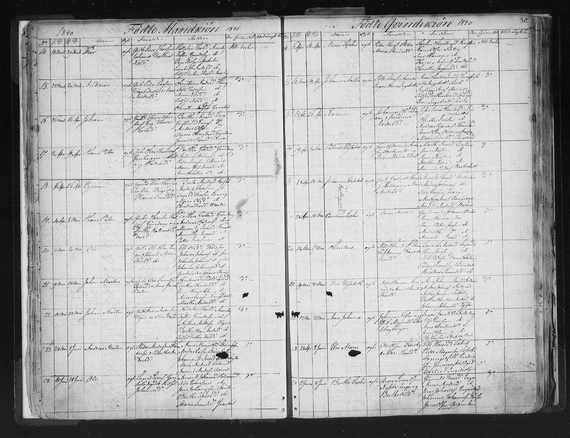 SAO, Aremark prestekontor Kirkebøker, F/Fc/L0002: Ministerialbok nr. III 2, 1834-1849, s. 30