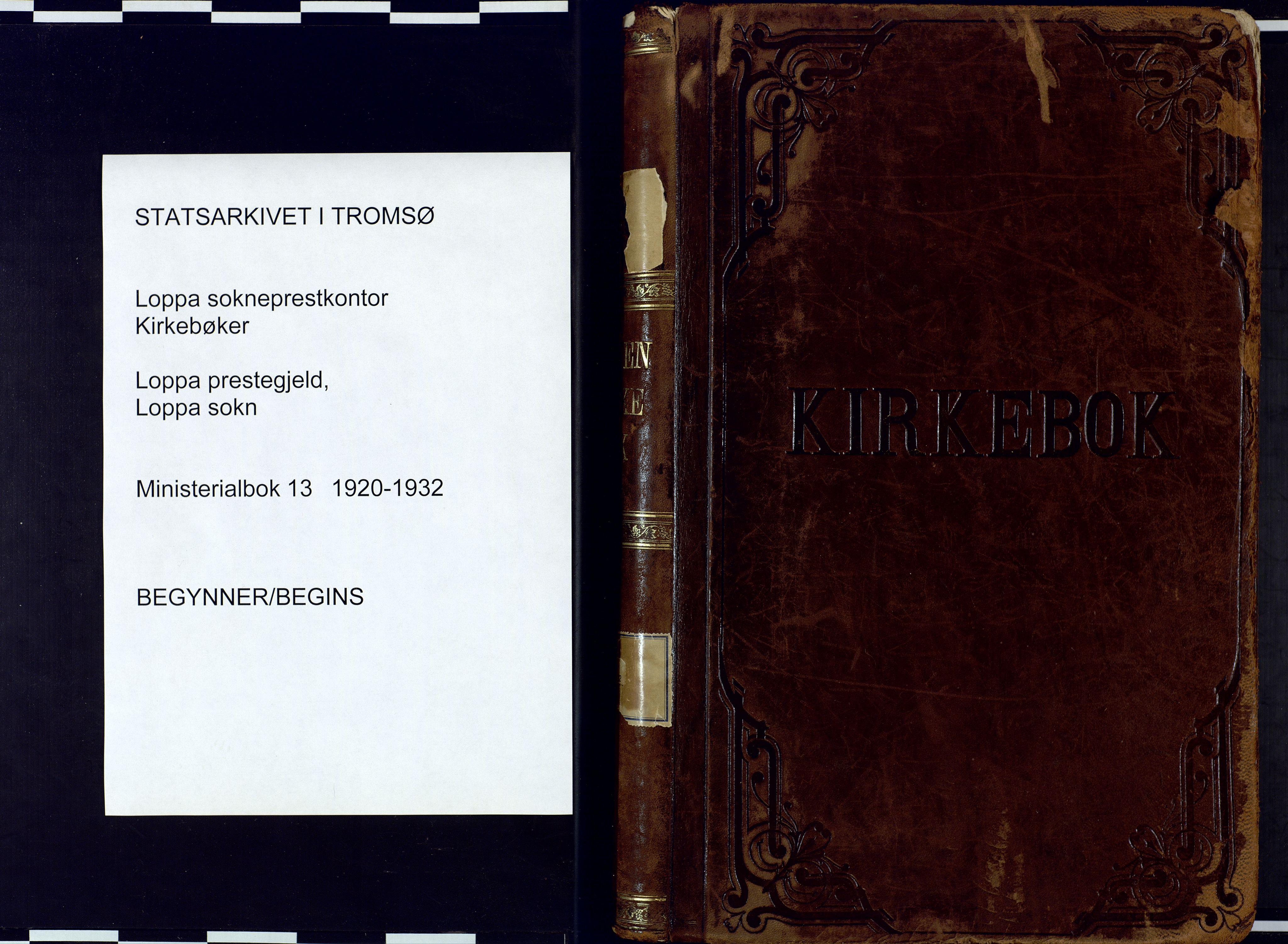 SATØ, Loppa sokneprestkontor, H/Ha/L0013kirke: Ministerialbok nr. 13, 1920-1932