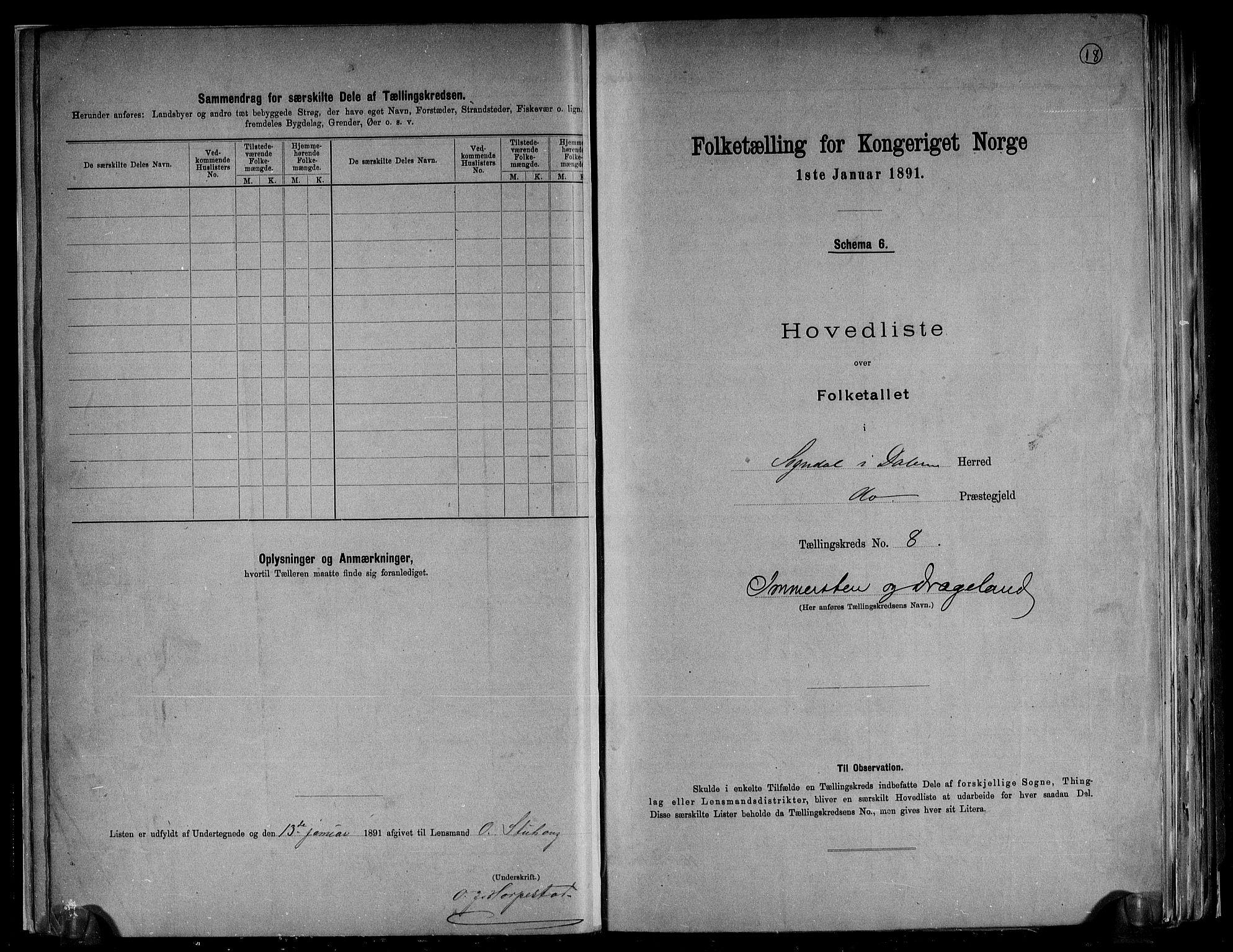 RA, Folketelling 1891 for 1111 Sokndal herred, 1891, s. 18
