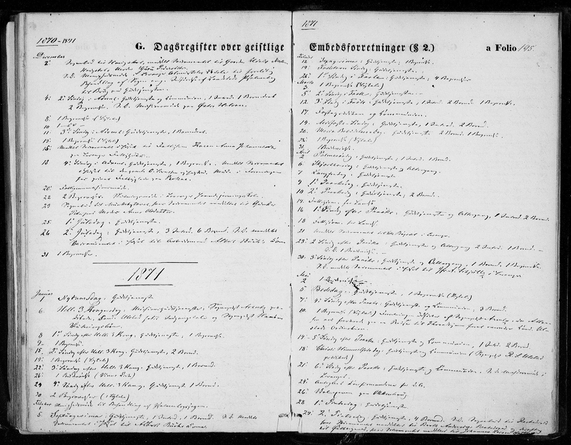 SAT, Ministerialprotokoller, klokkerbøker og fødselsregistre - Nord-Trøndelag, 721/L0206: Ministerialbok nr. 721A01, 1864-1874, s. 195
