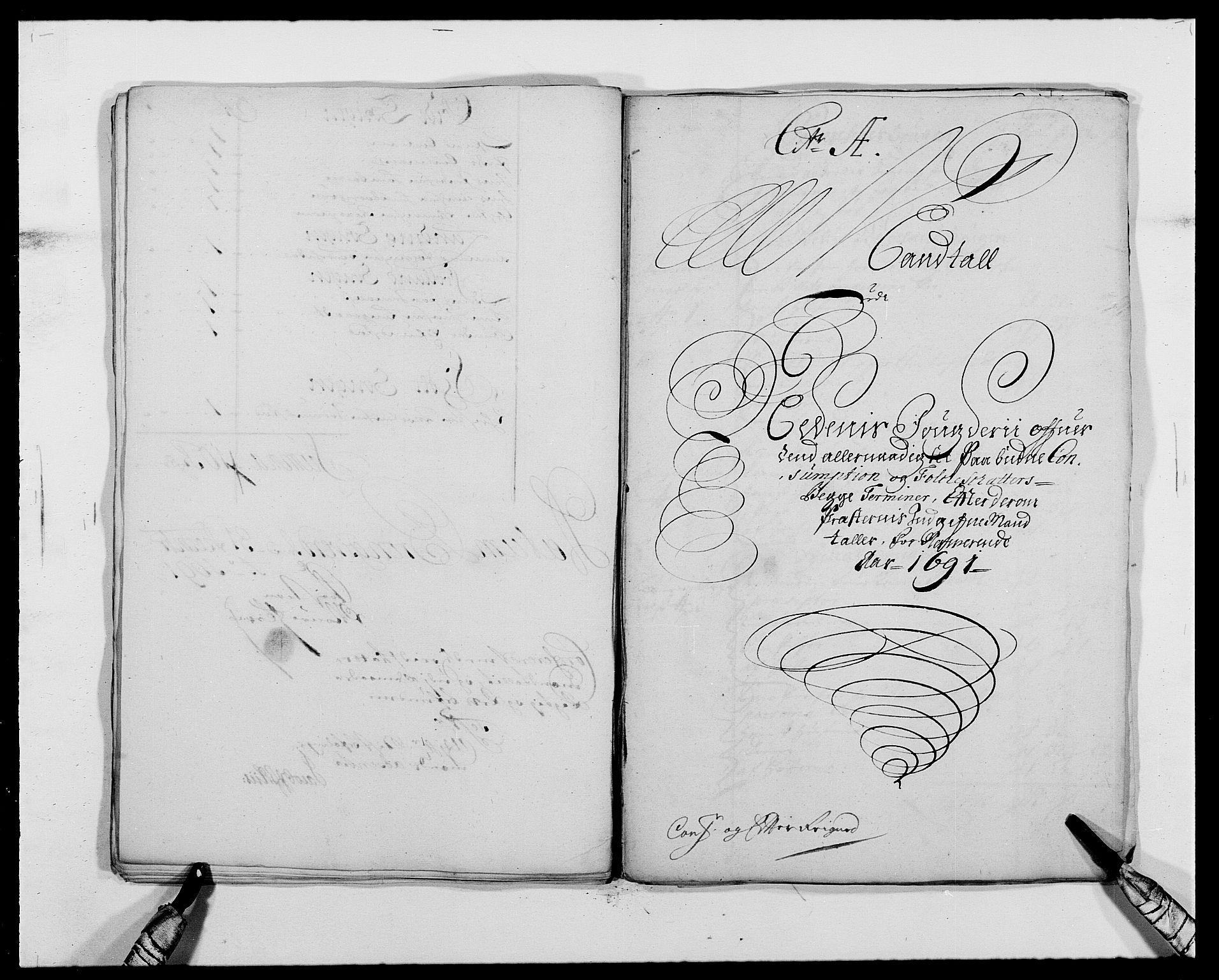 RA, Rentekammeret inntil 1814, Reviderte regnskaper, Fogderegnskap, R39/L2311: Fogderegnskap Nedenes, 1690-1692, s. 101