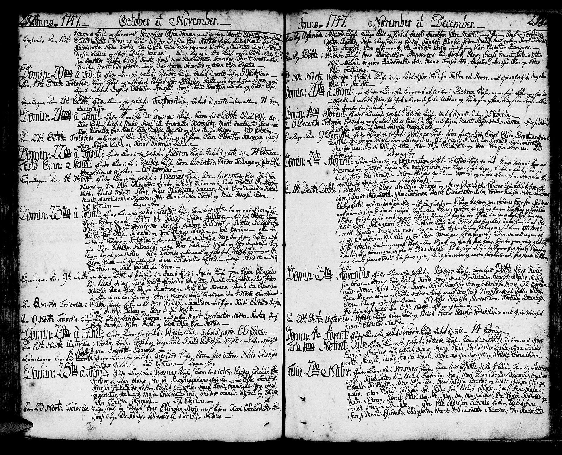 SAT, Ministerialprotokoller, klokkerbøker og fødselsregistre - Møre og Romsdal, 547/L0599: Ministerialbok nr. 547A01, 1721-1764, s. 296-297