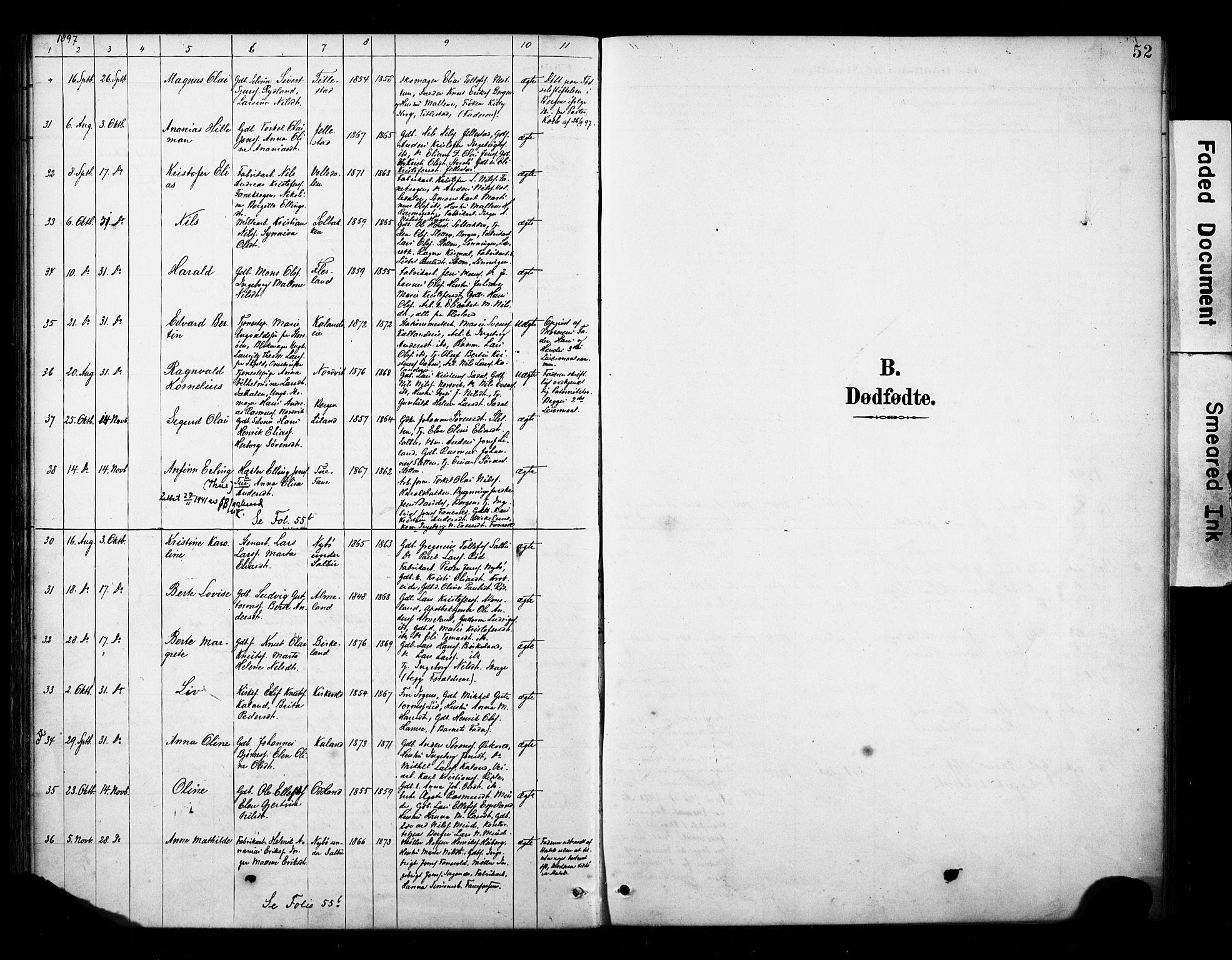 SAB, Fana Sokneprestembete, H/Haa/Haab/L0002: Ministerialbok nr. B 2, 1890-1897, s. 52