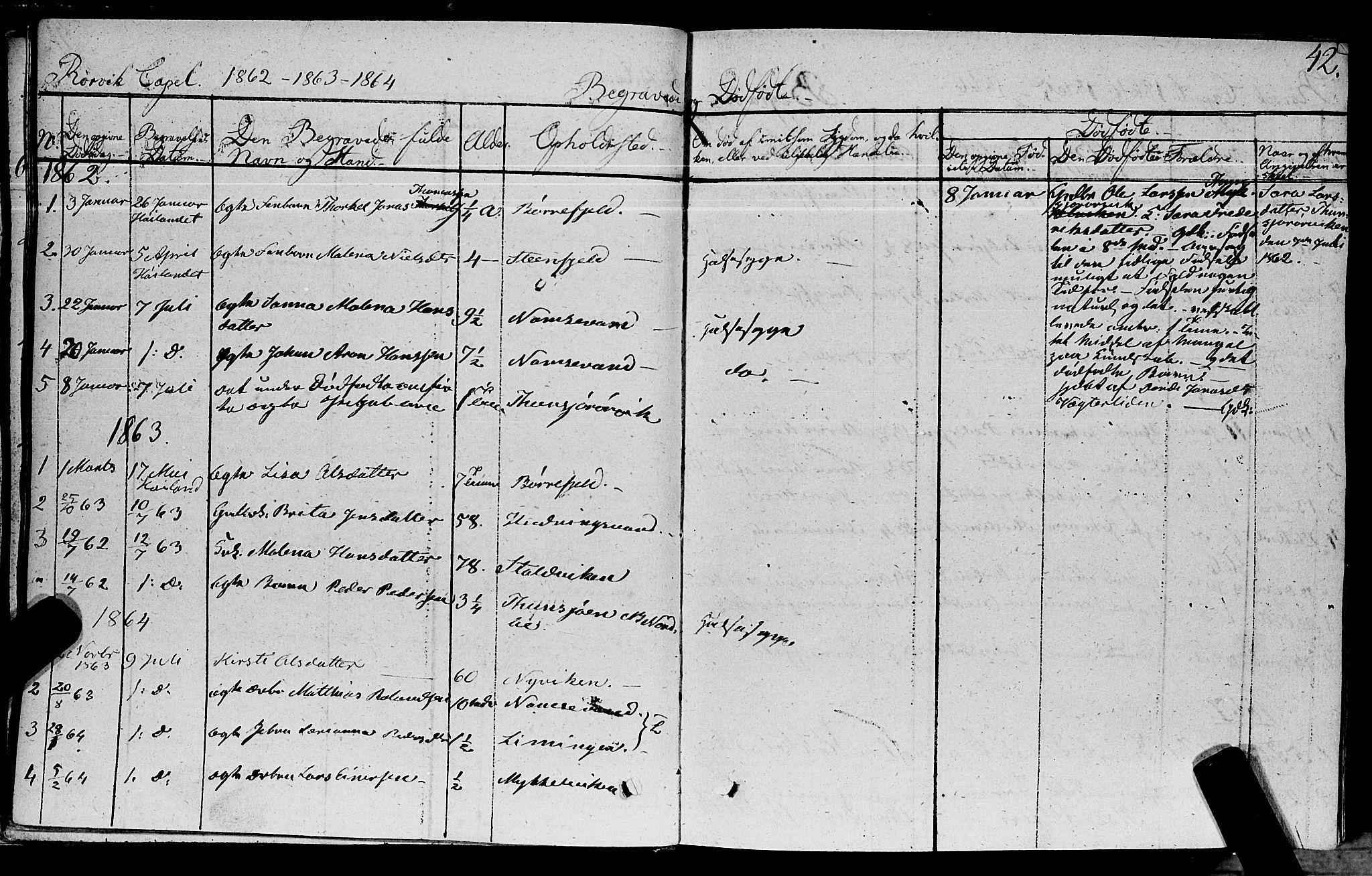 SAT, Ministerialprotokoller, klokkerbøker og fødselsregistre - Nord-Trøndelag, 762/L0538: Ministerialbok nr. 762A02 /1, 1833-1879, s. 42