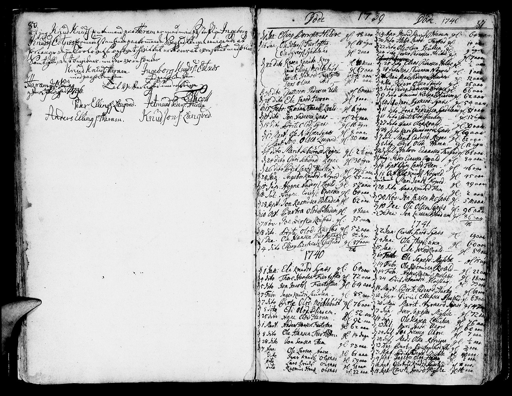 SAT, Ministerialprotokoller, klokkerbøker og fødselsregistre - Møre og Romsdal, 536/L0493: Ministerialbok nr. 536A02, 1739-1802, s. 80-81