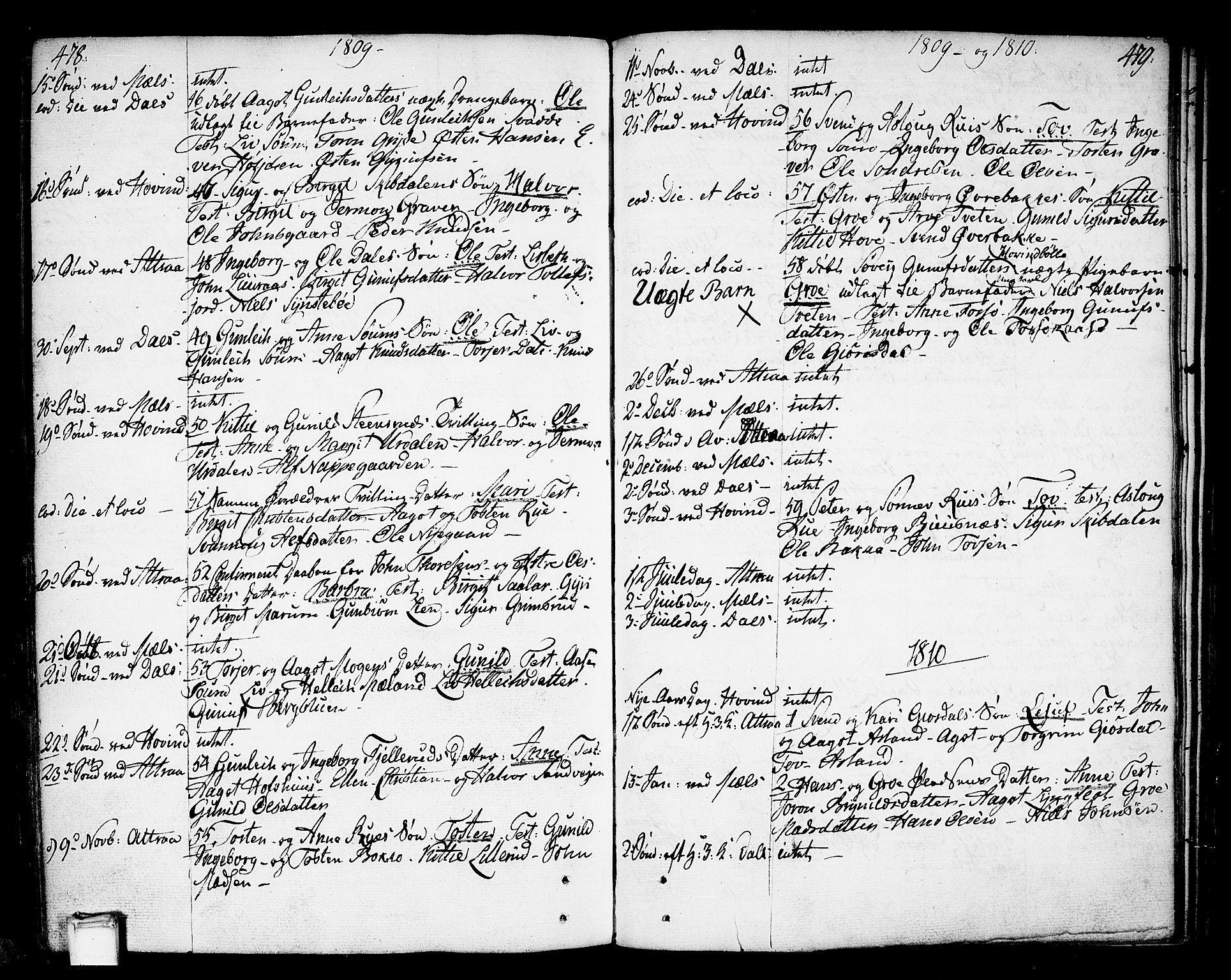 SAKO, Tinn kirkebøker, F/Fa/L0002: Ministerialbok nr. I 2, 1757-1810, s. 478-479