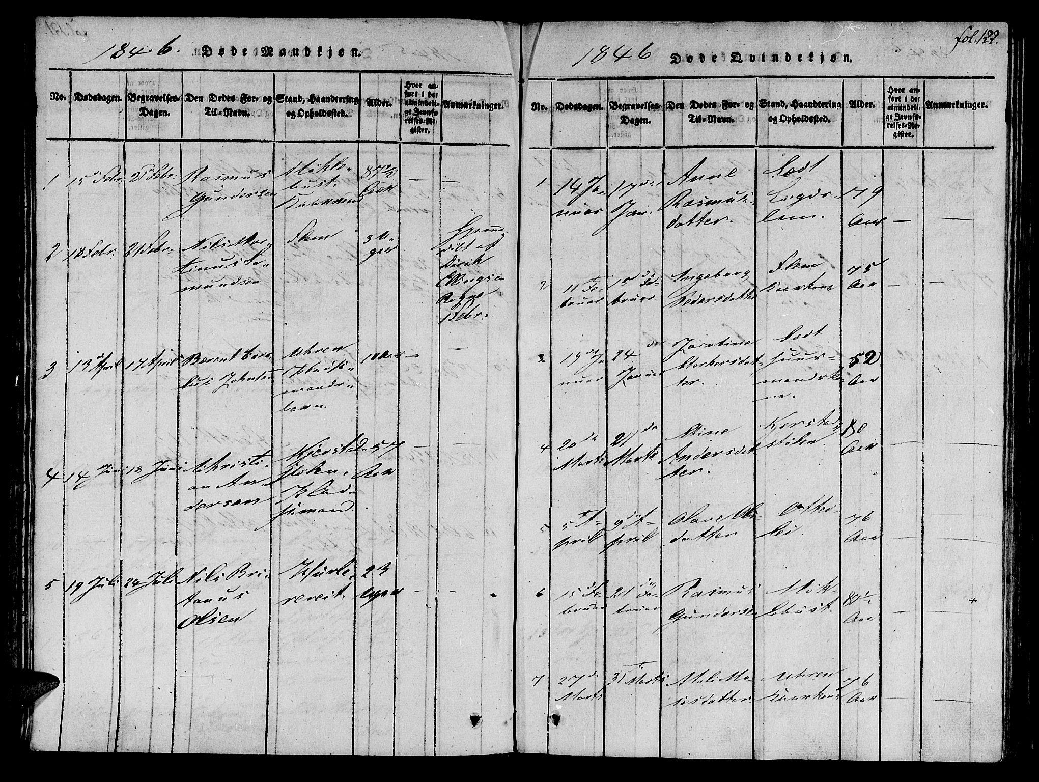 SAT, Ministerialprotokoller, klokkerbøker og fødselsregistre - Møre og Romsdal, 536/L0495: Ministerialbok nr. 536A04, 1818-1847, s. 122