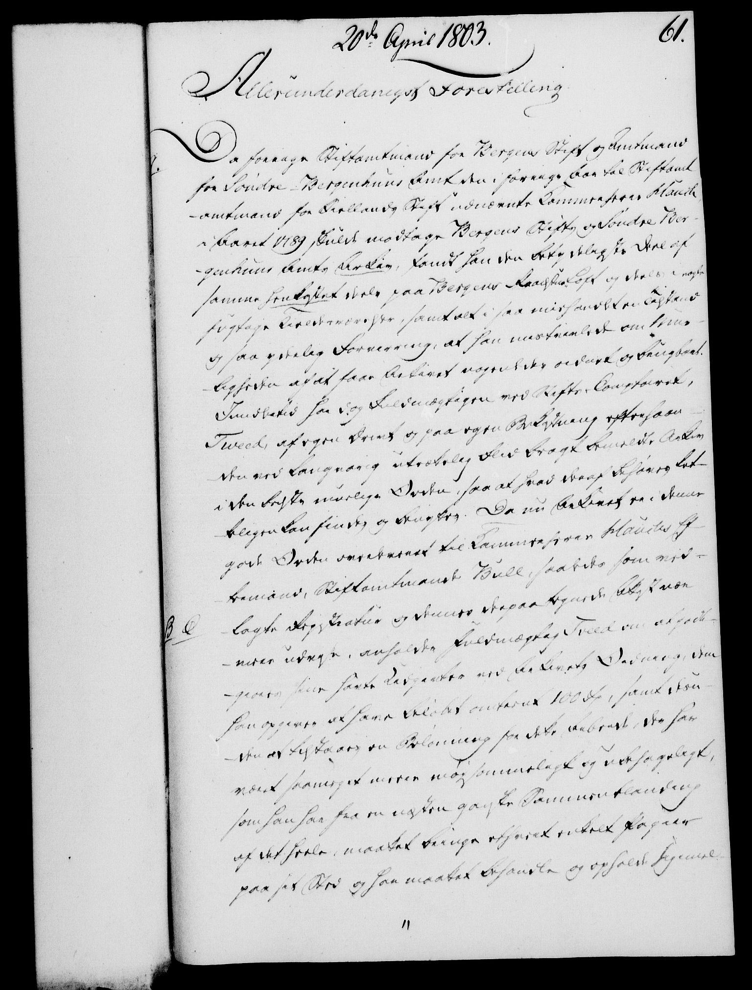 RA, Rentekammeret, Kammerkanselliet, G/Gf/Gfa/L0085: Norsk relasjons- og resolusjonsprotokoll (merket RK 52.85), 1803, s. 395