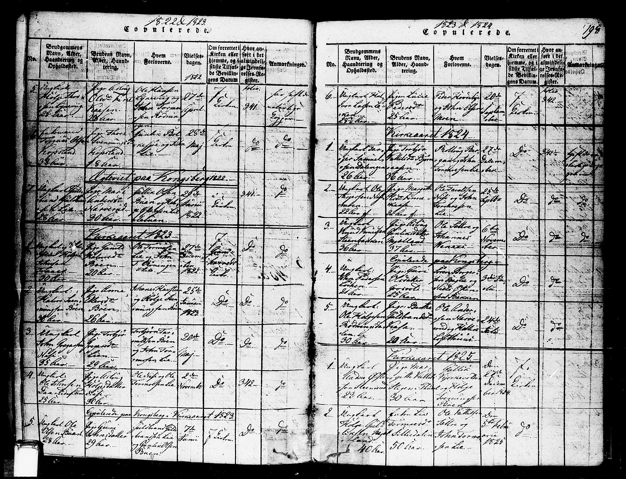 SAKO, Gransherad kirkebøker, F/Fa/L0001: Ministerialbok nr. I 1, 1815-1843, s. 195