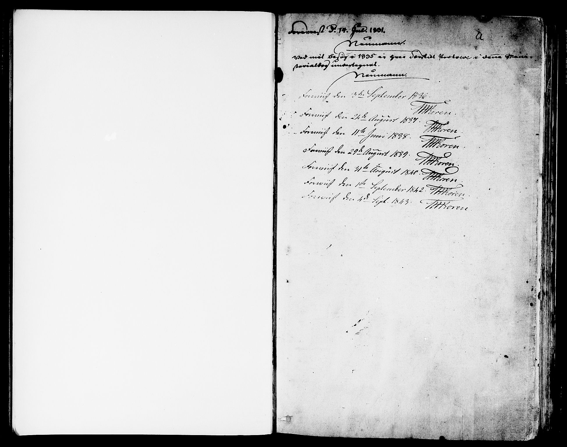 SAB, Eid Sokneprestembete, H/Haa: Ministerialbok nr. A 6, 1831-1843