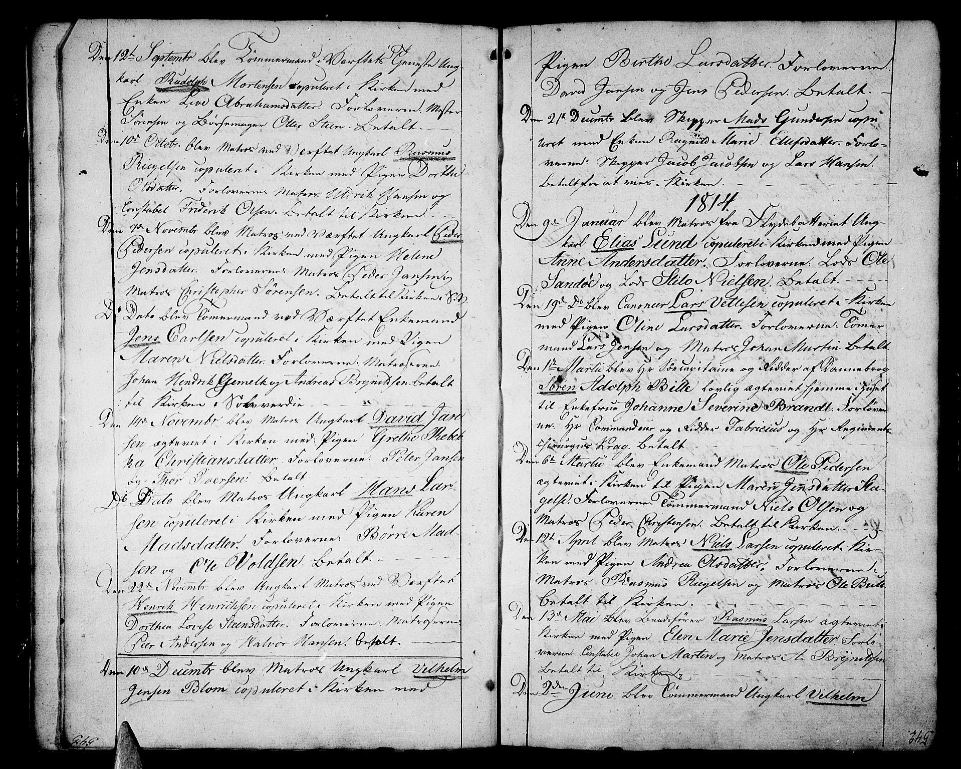 SAKO, Stavern kirkebøker, F/Fa/L0004: Ministerialbok nr. 4, 1809-1816, s. 542-543