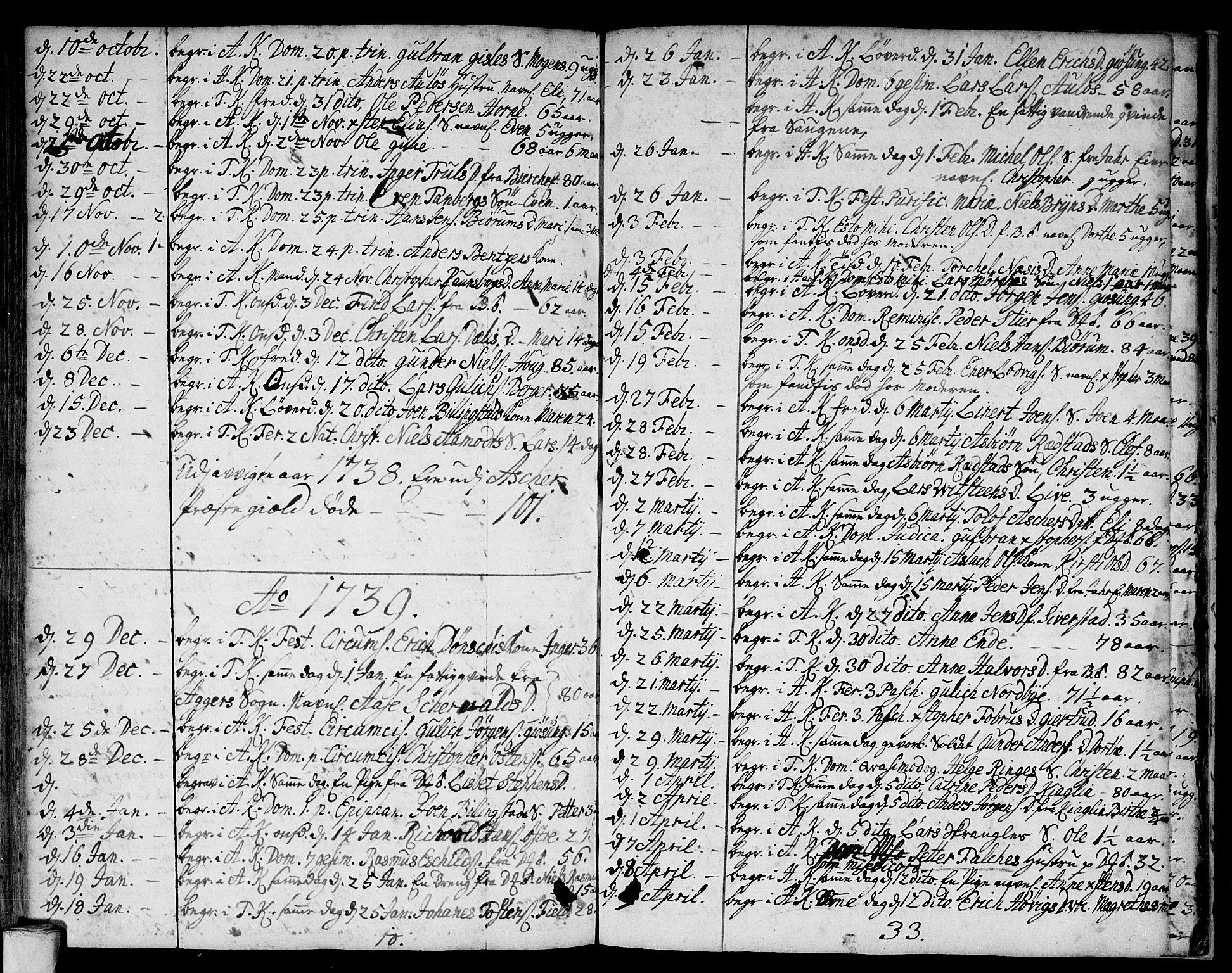 SAO, Asker prestekontor Kirkebøker, F/Fa/L0001: Ministerialbok nr. I 1, 1726-1744, s. 103