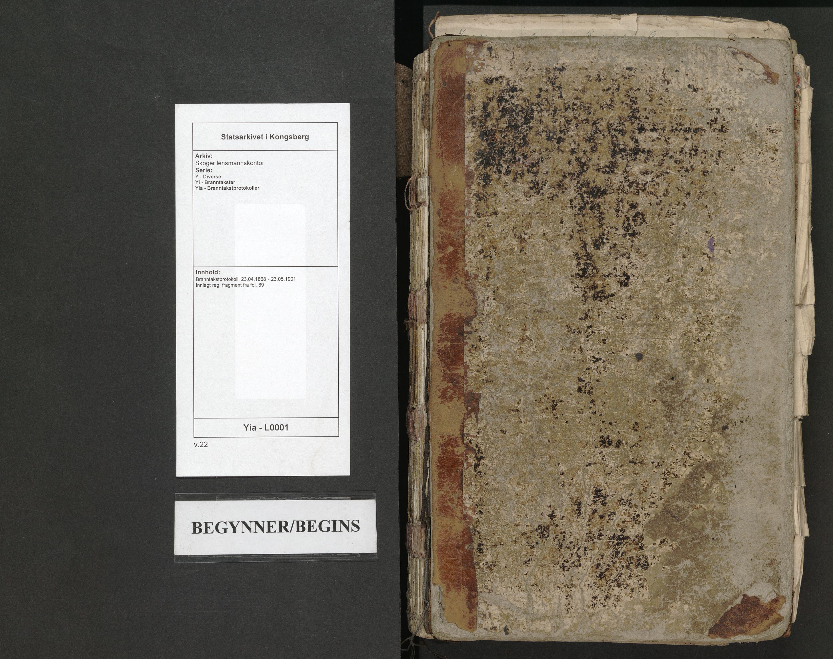 SAKO, Skoger lensmannskontor, Y/Yi/Yia/L0001: Branntakstprotokoll, 1868-1901