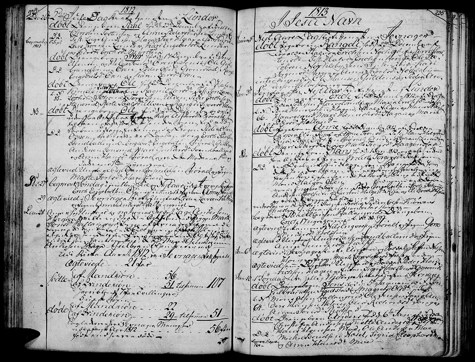 SAH, Jevnaker prestekontor, Ministerialbok nr. 4, 1800-1861, s. 234-235