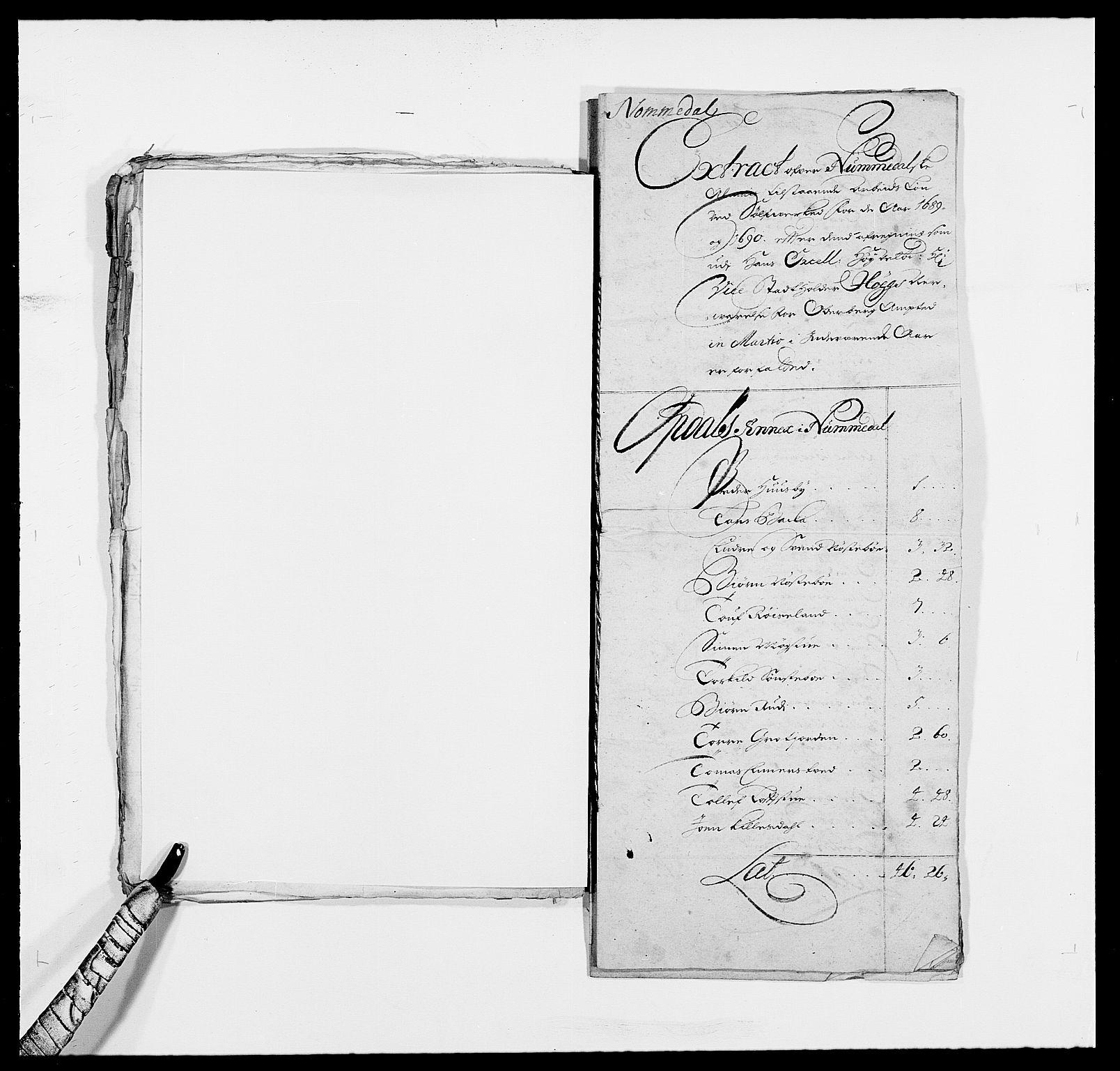 RA, Rentekammeret inntil 1814, Reviderte regnskaper, Fogderegnskap, R24/L1574: Fogderegnskap Numedal og Sandsvær, 1688-1691, s. 20