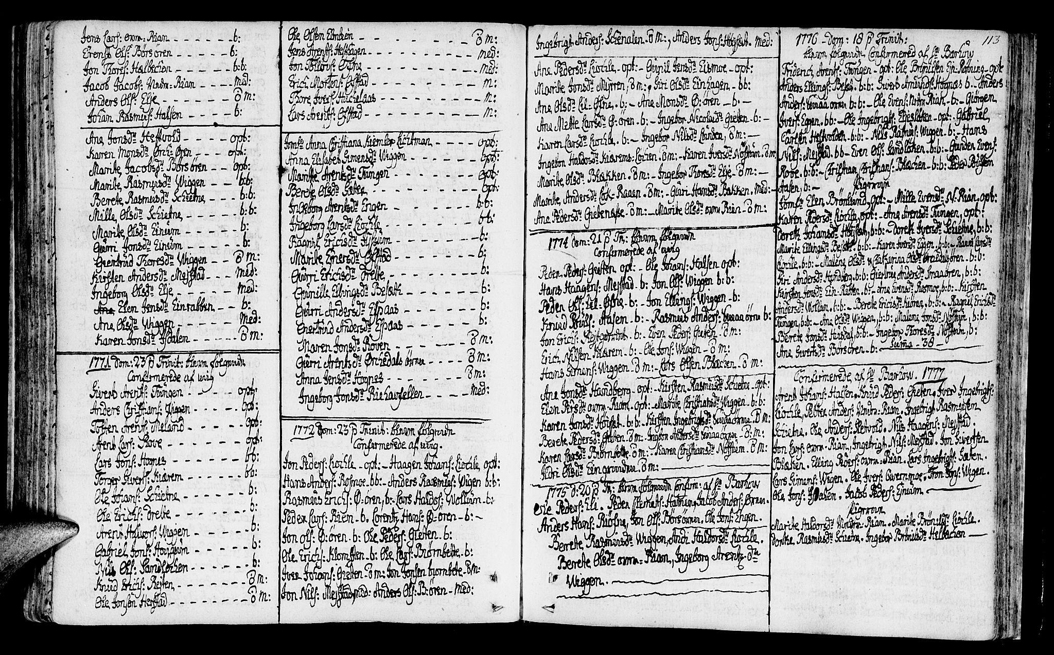 SAT, Ministerialprotokoller, klokkerbøker og fødselsregistre - Sør-Trøndelag, 665/L0768: Ministerialbok nr. 665A03, 1754-1803, s. 113