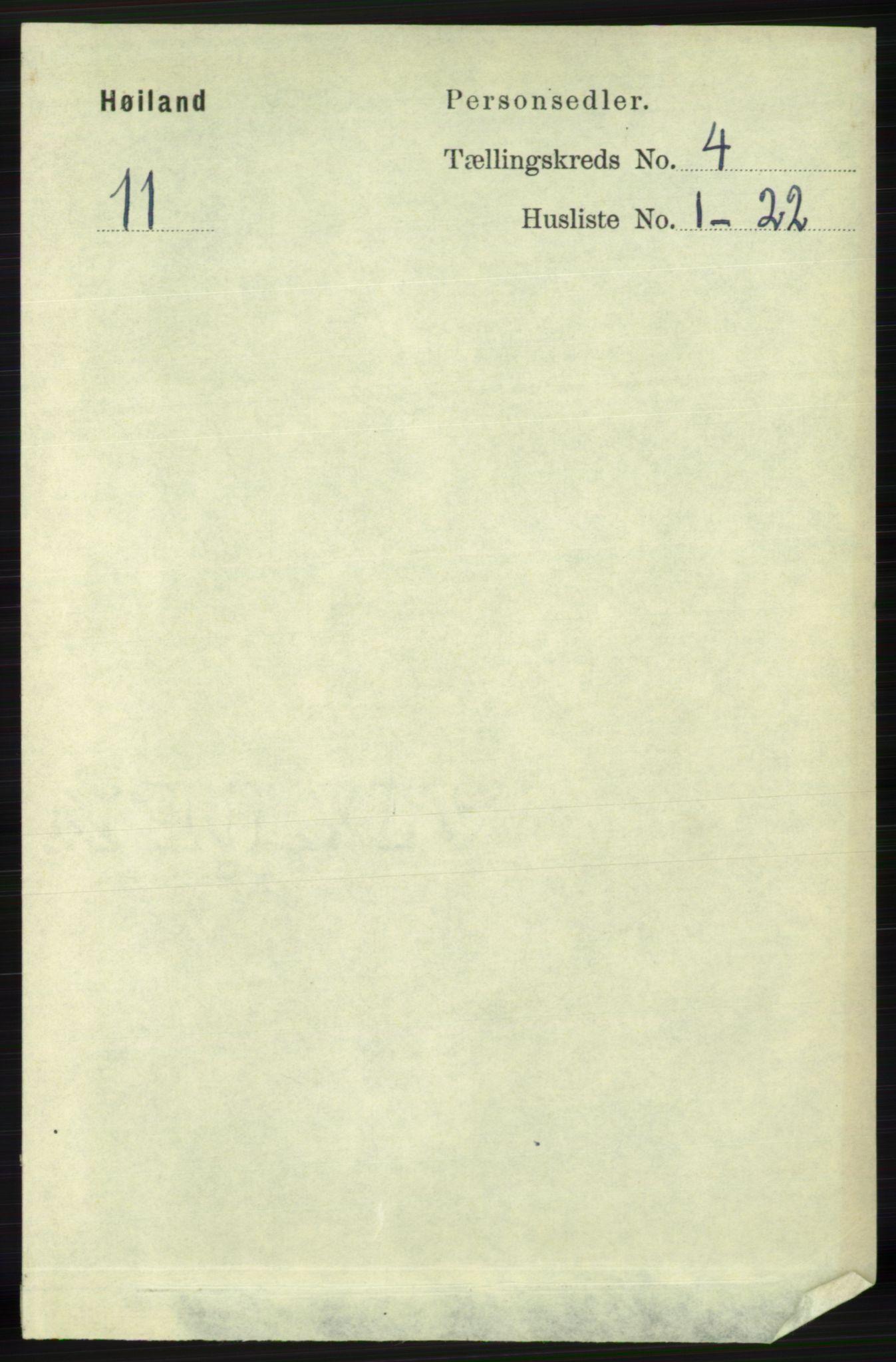 RA, Folketelling 1891 for 1123 Høyland herred, 1891, s. 1026