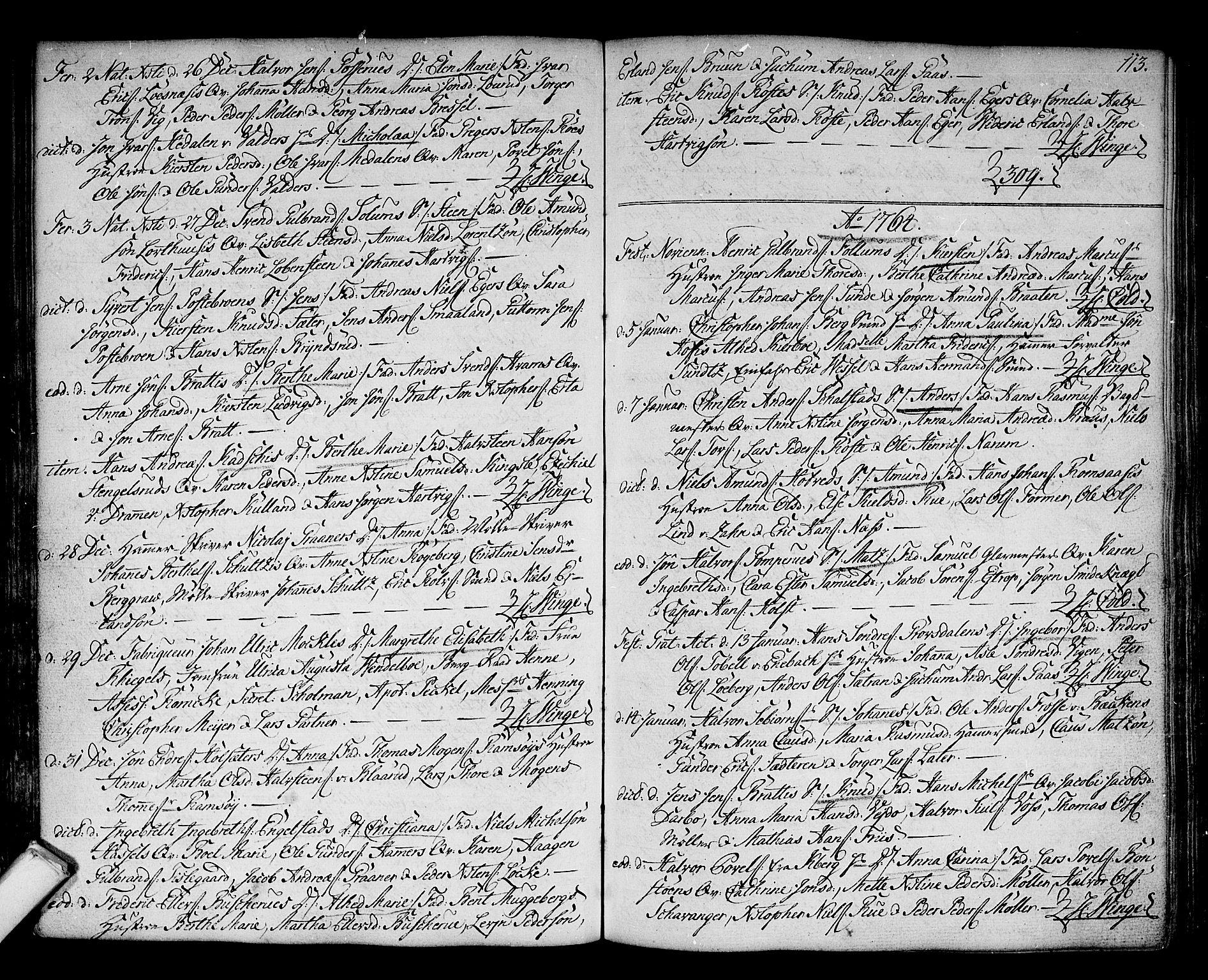 SAKO, Kongsberg kirkebøker, F/Fa/L0004: Ministerialbok nr. I 4, 1756-1768, s. 113