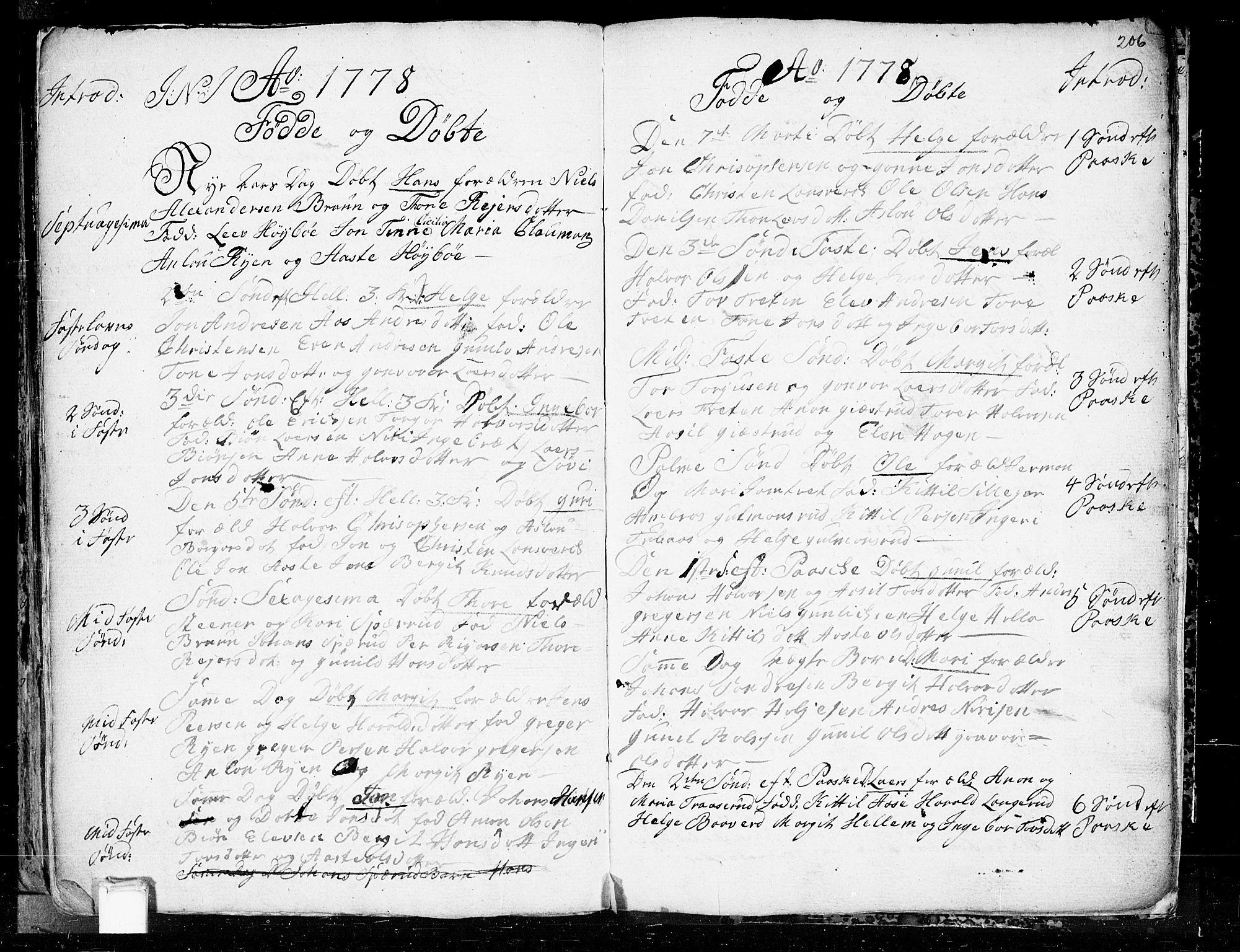SAKO, Heddal kirkebøker, F/Fa/L0003: Ministerialbok nr. I 3, 1723-1783, s. 206
