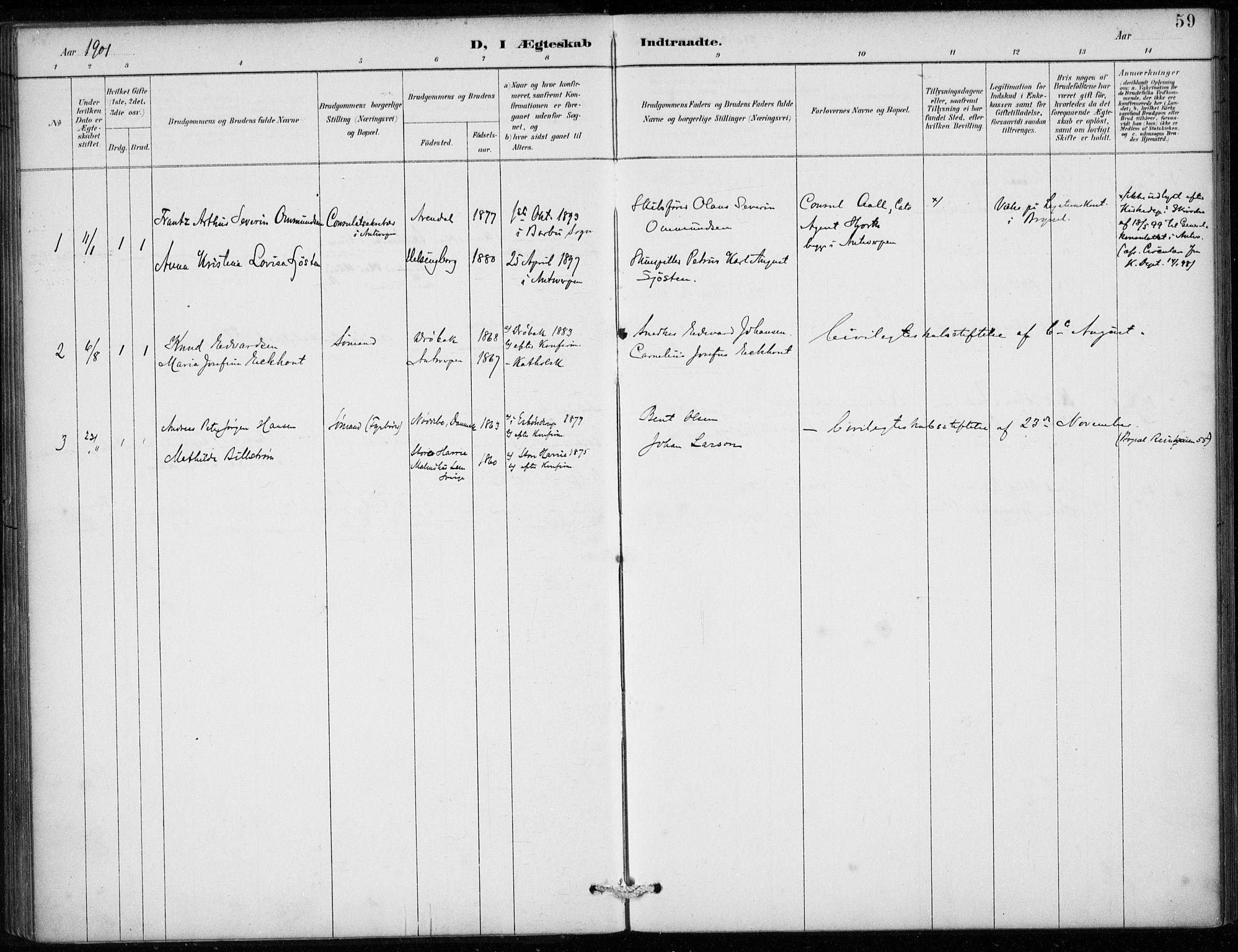 SAB, Den Norske Sjømannsmisjon i utlandet*, Ministerialbok nr. A 2, 1887-1913, s. 59