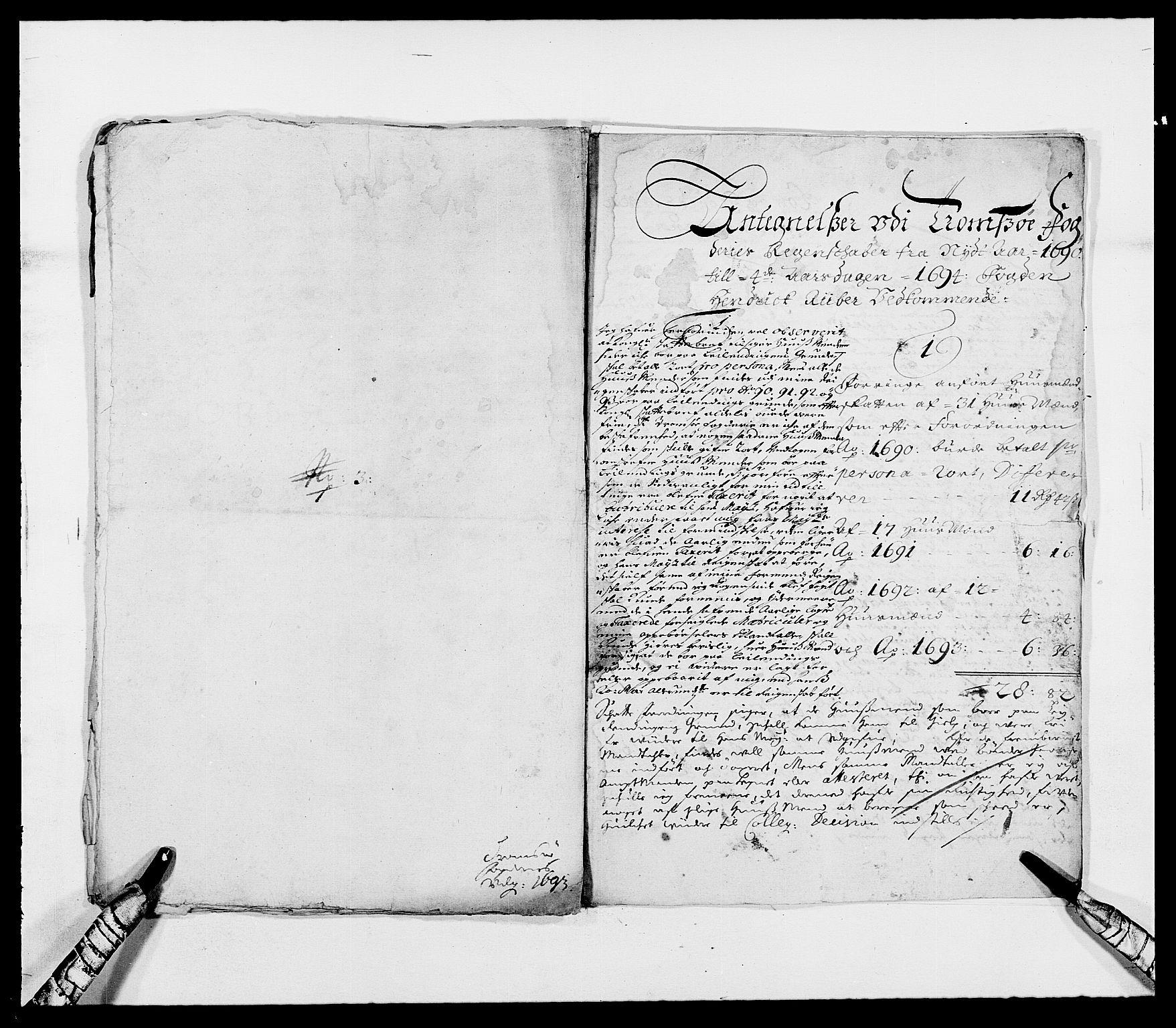 RA, Rentekammeret inntil 1814, Reviderte regnskaper, Fogderegnskap, R68/L4751: Fogderegnskap Senja og Troms, 1690-1693, s. 327