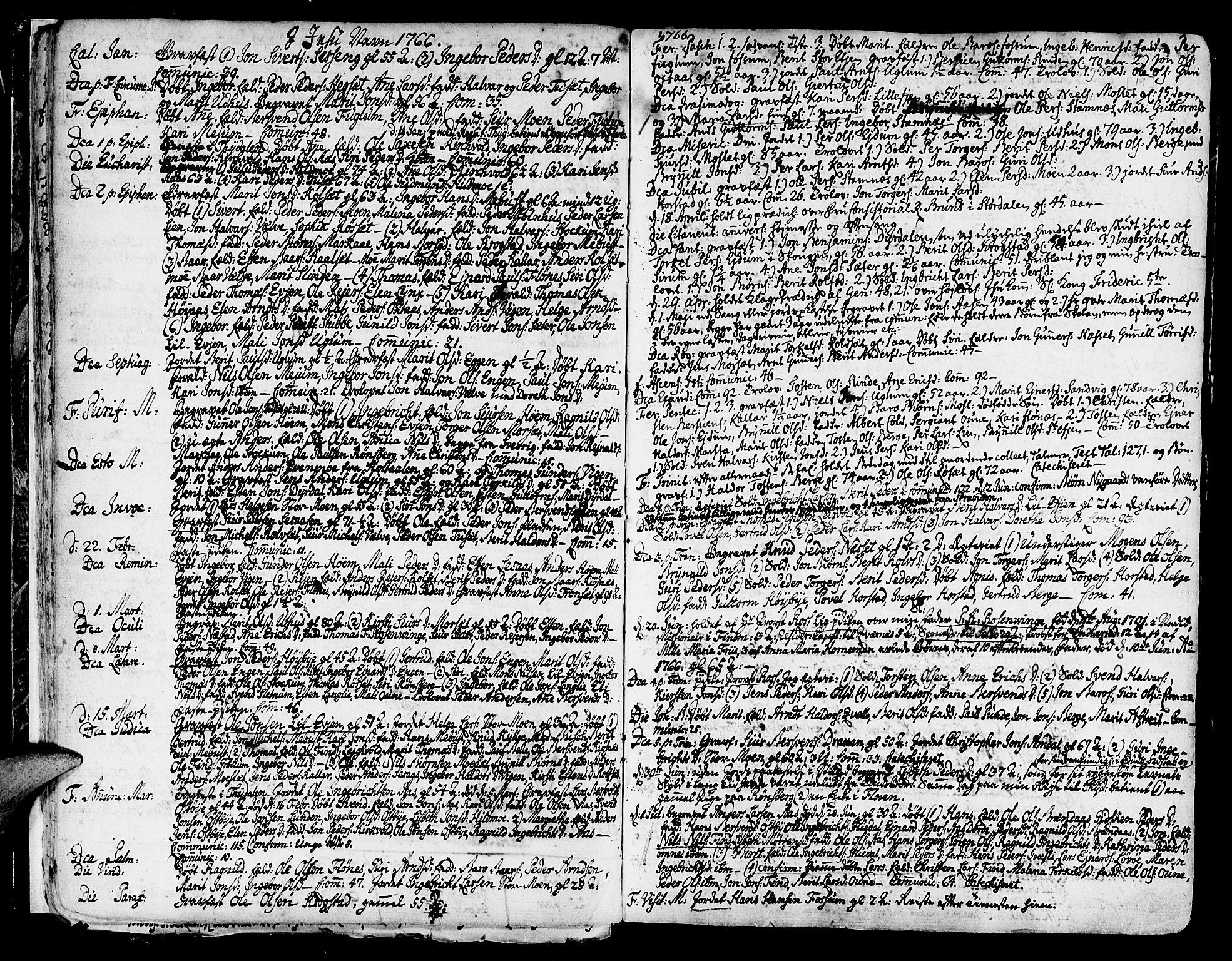 SAT, Ministerialprotokoller, klokkerbøker og fødselsregistre - Sør-Trøndelag, 695/L1138: Ministerialbok nr. 695A02 /1, 1757-1801, s. 19
