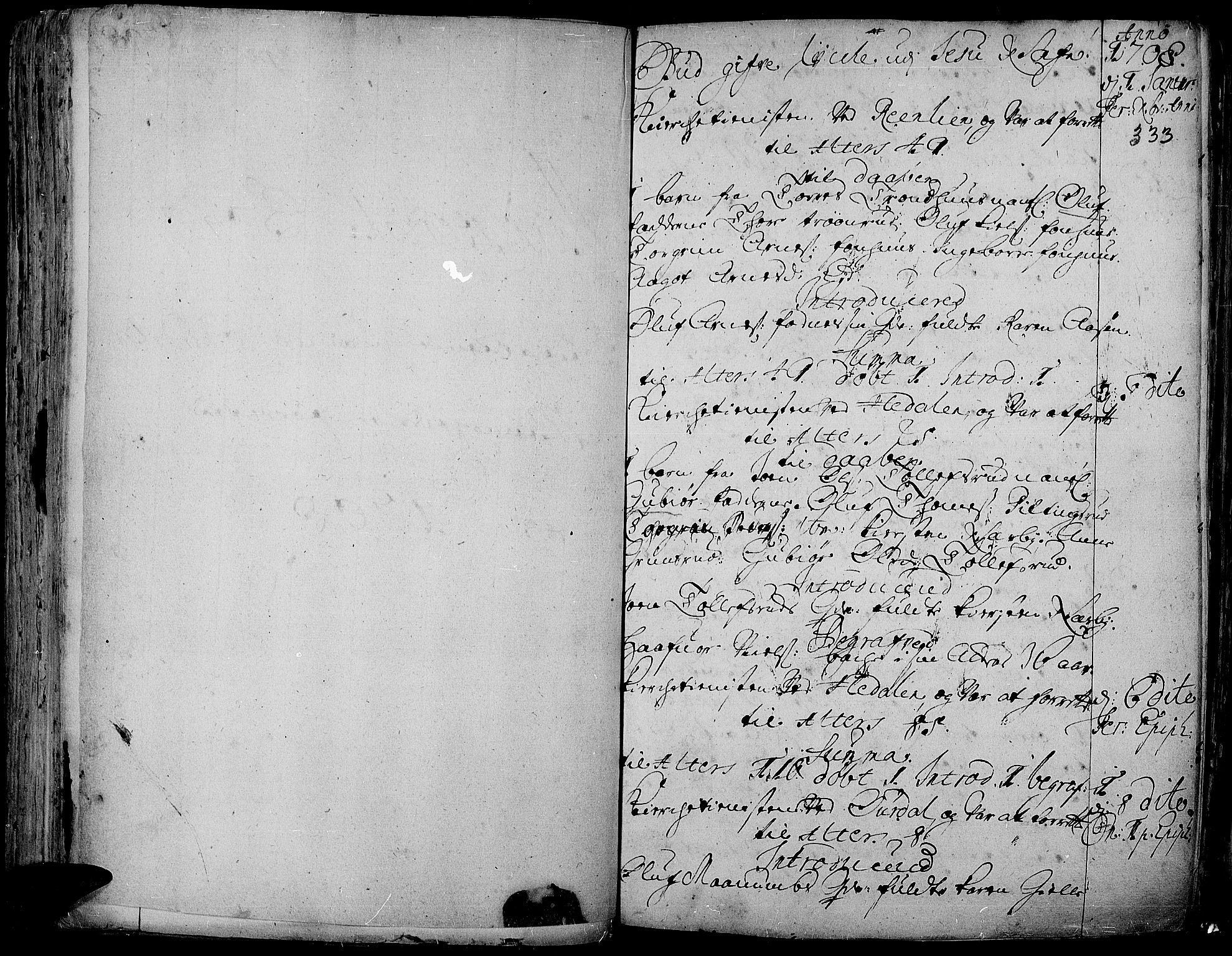 SAH, Aurdal prestekontor, Ministerialbok nr. 1-3, 1692-1730, s. 333